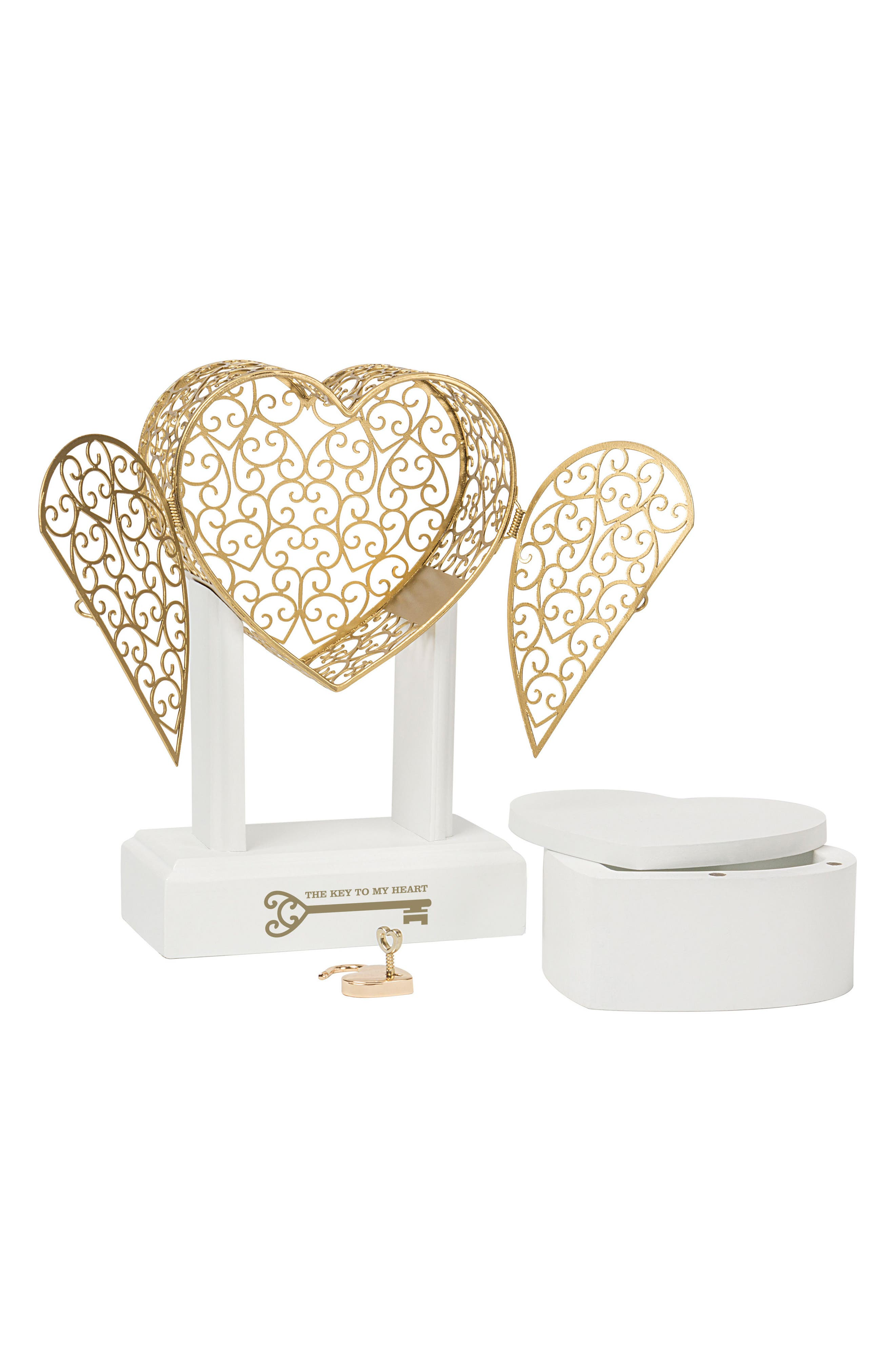 Alternate Image 2  - Cathy's Concepts Key To My Heart Vow Unity Keepsake Box