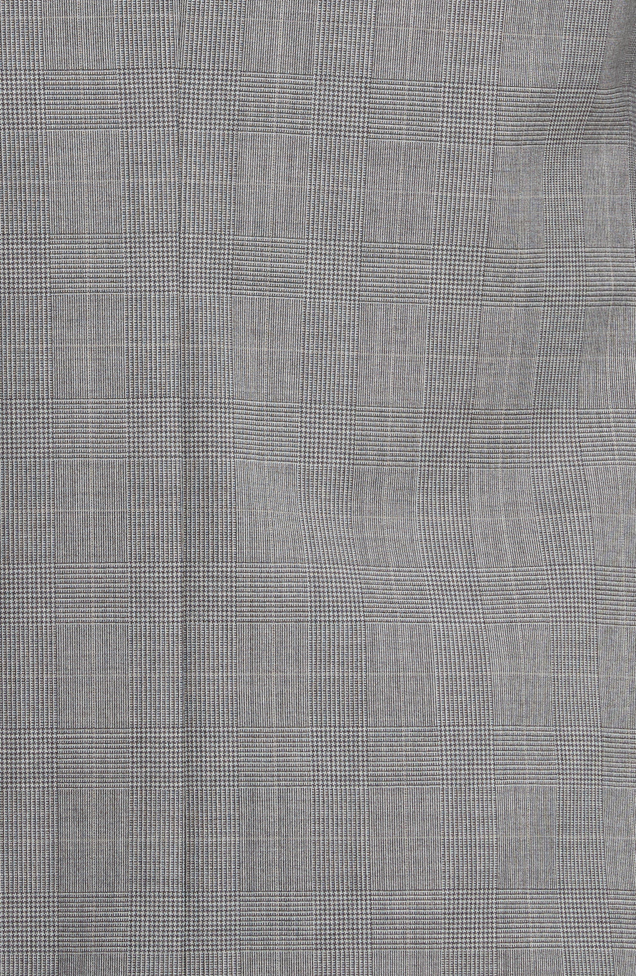 Classic Fit Plaid Wool Suit,                             Alternate thumbnail 7, color,                             Dark Grey Check