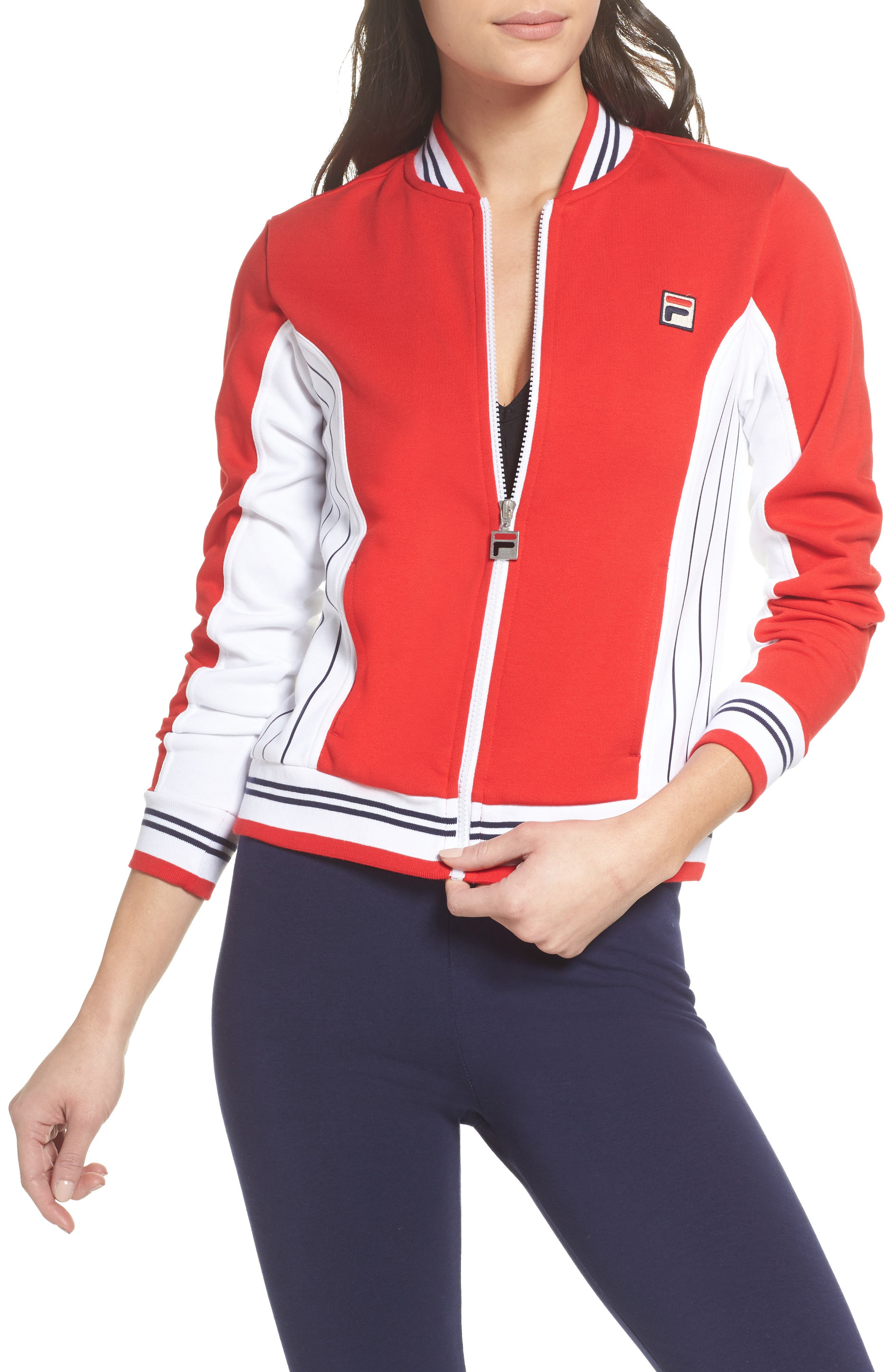 Settanta II Jacket,                         Main,                         color, Chinese Red/ White/ Navy