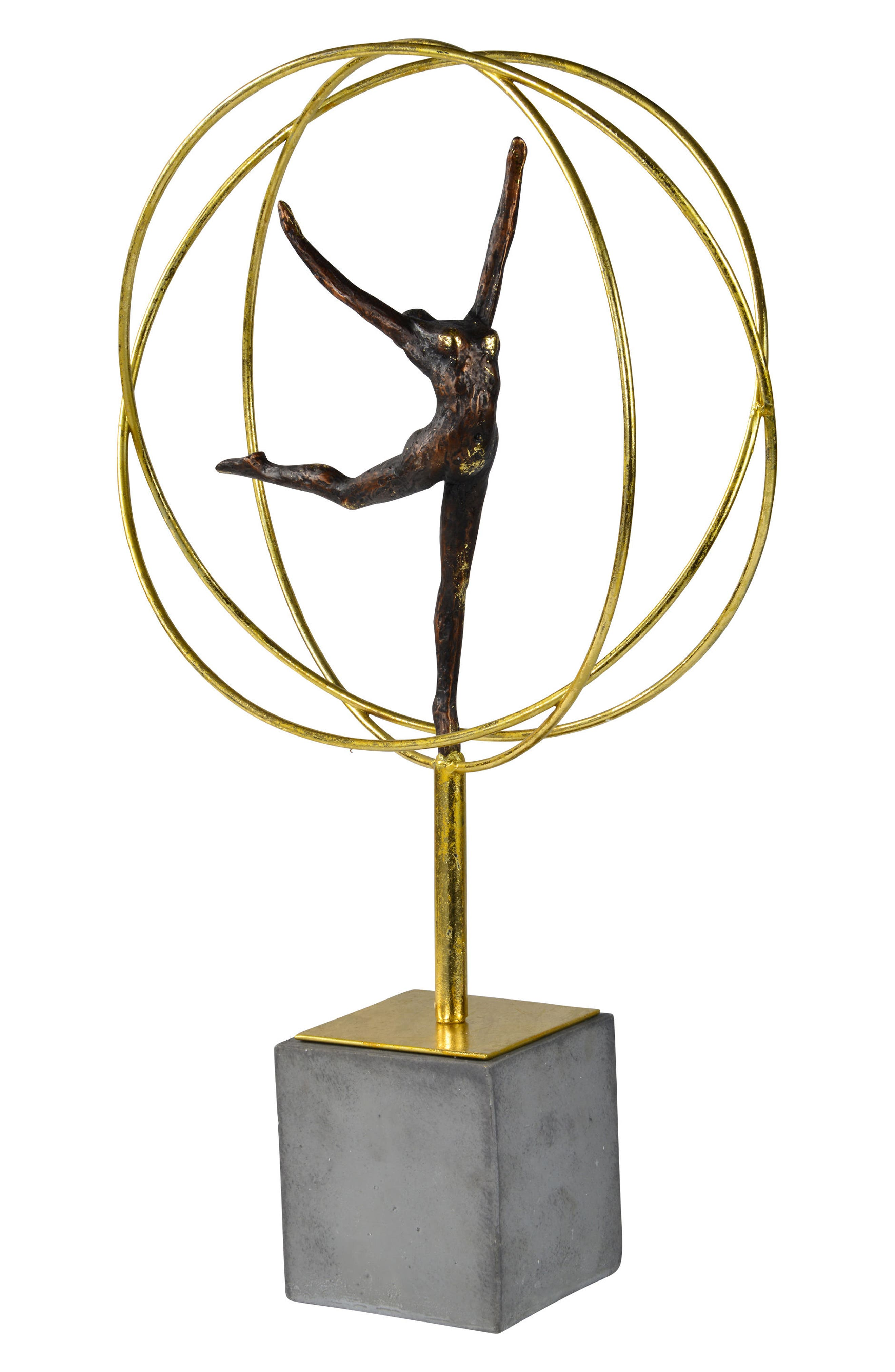 Cirque Statue,                             Alternate thumbnail 2, color,                             Gold And Grey