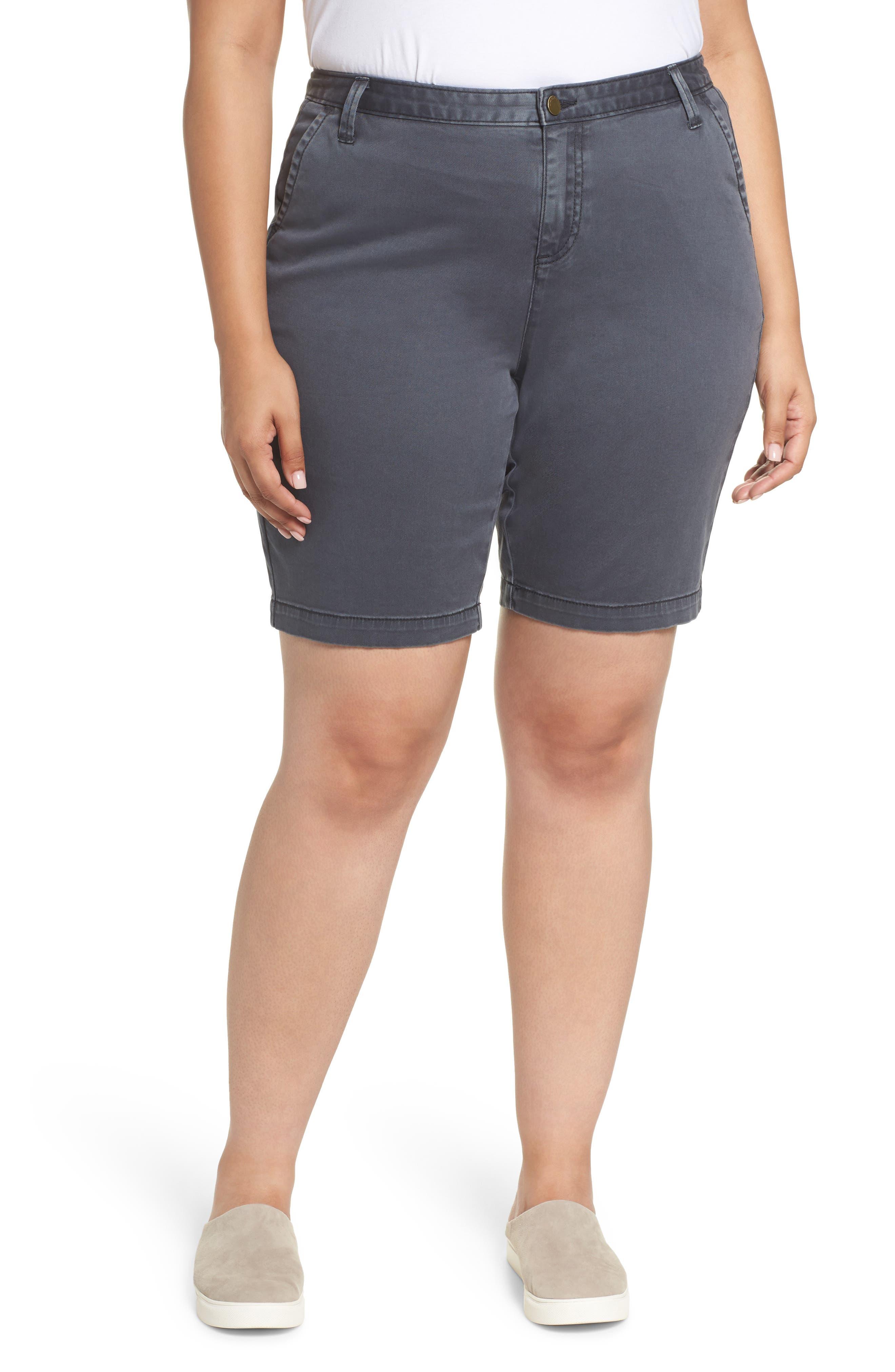 Twill Shorts,                             Main thumbnail 1, color,                             Grey Ebony