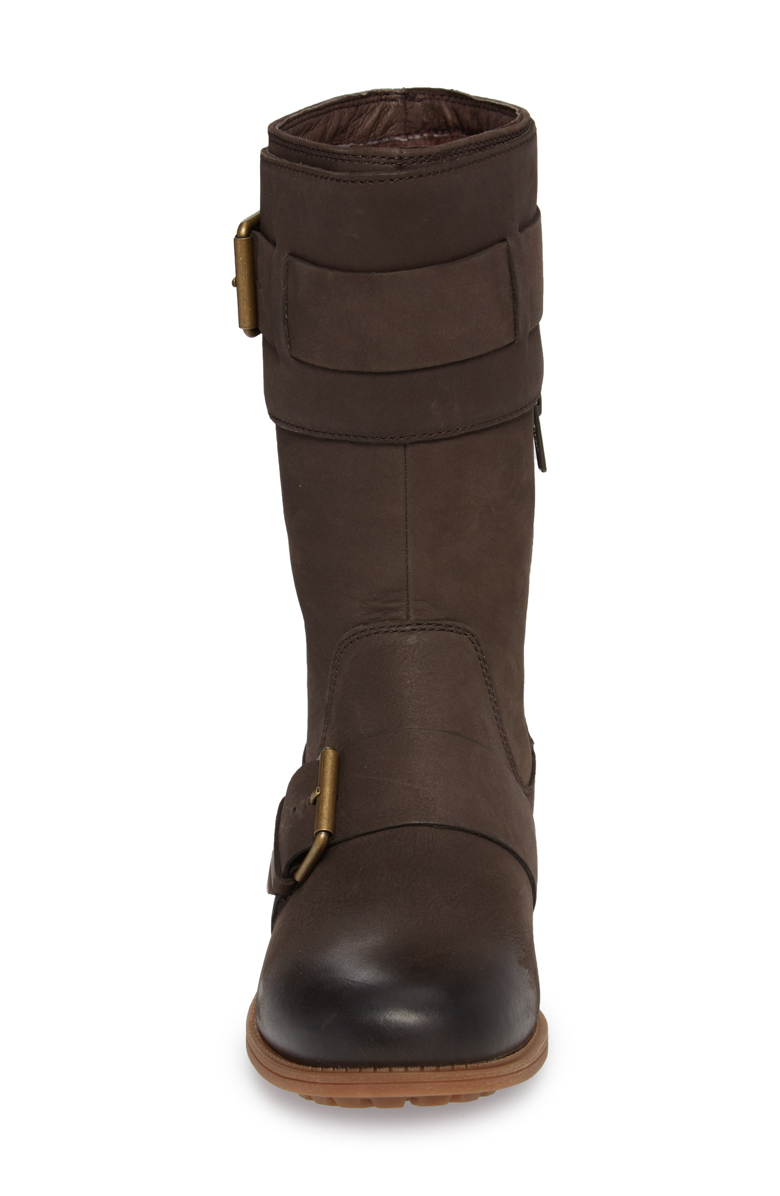 Chancey Moto Boot,                             Alternate thumbnail 4, color,                             Stout Leather