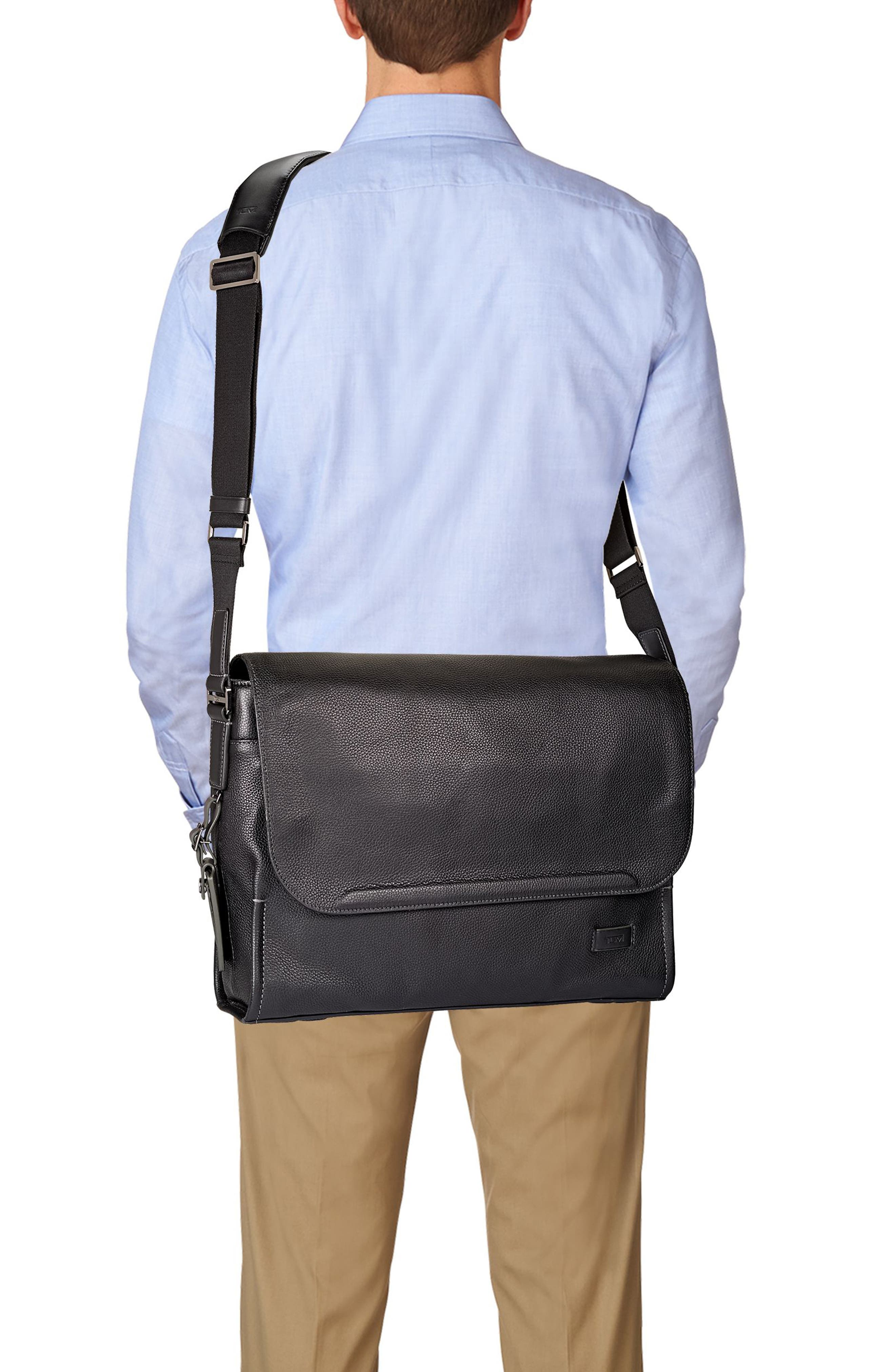 Harrison - Mathews Messenger Bag,                             Alternate thumbnail 2, color,                             Black
