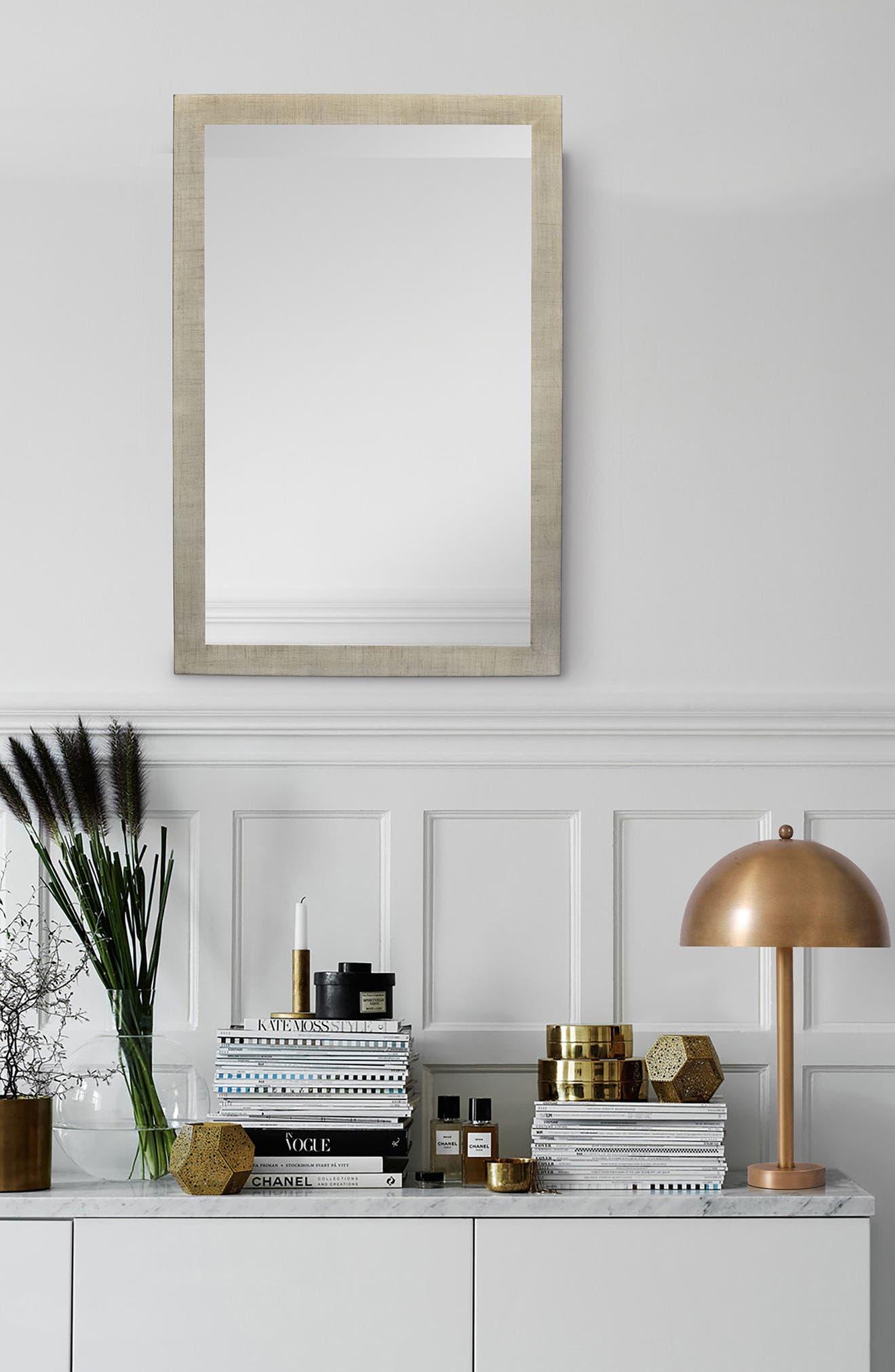Emery Mirror,                             Alternate thumbnail 2, color,                             Silver Leaf