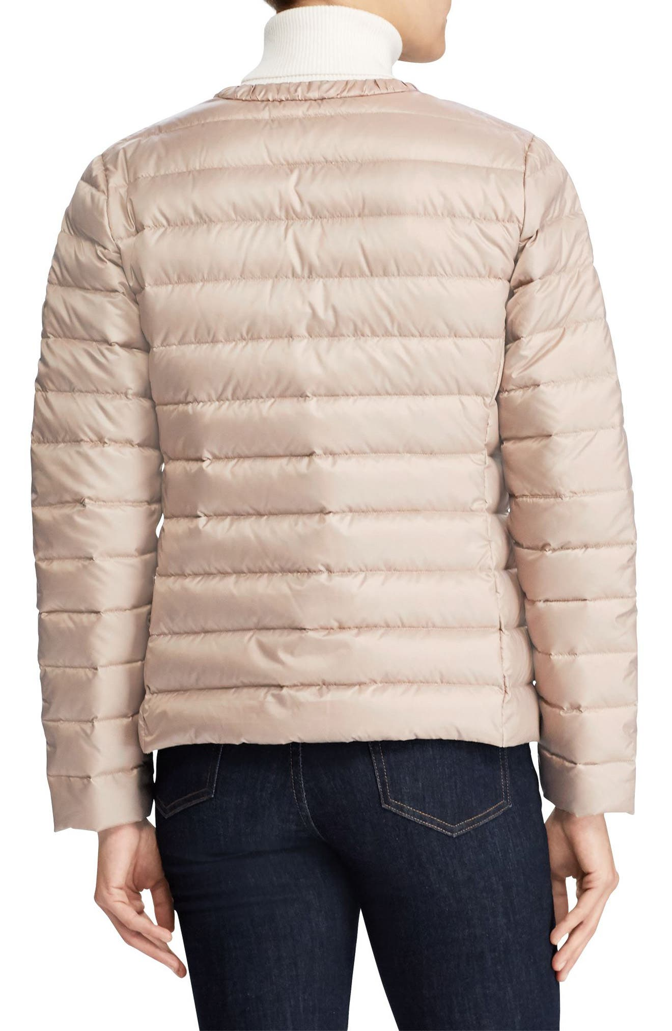 Packable Quilted Collarless Down Jacket,                             Alternate thumbnail 2, color,                             Luxe Chino