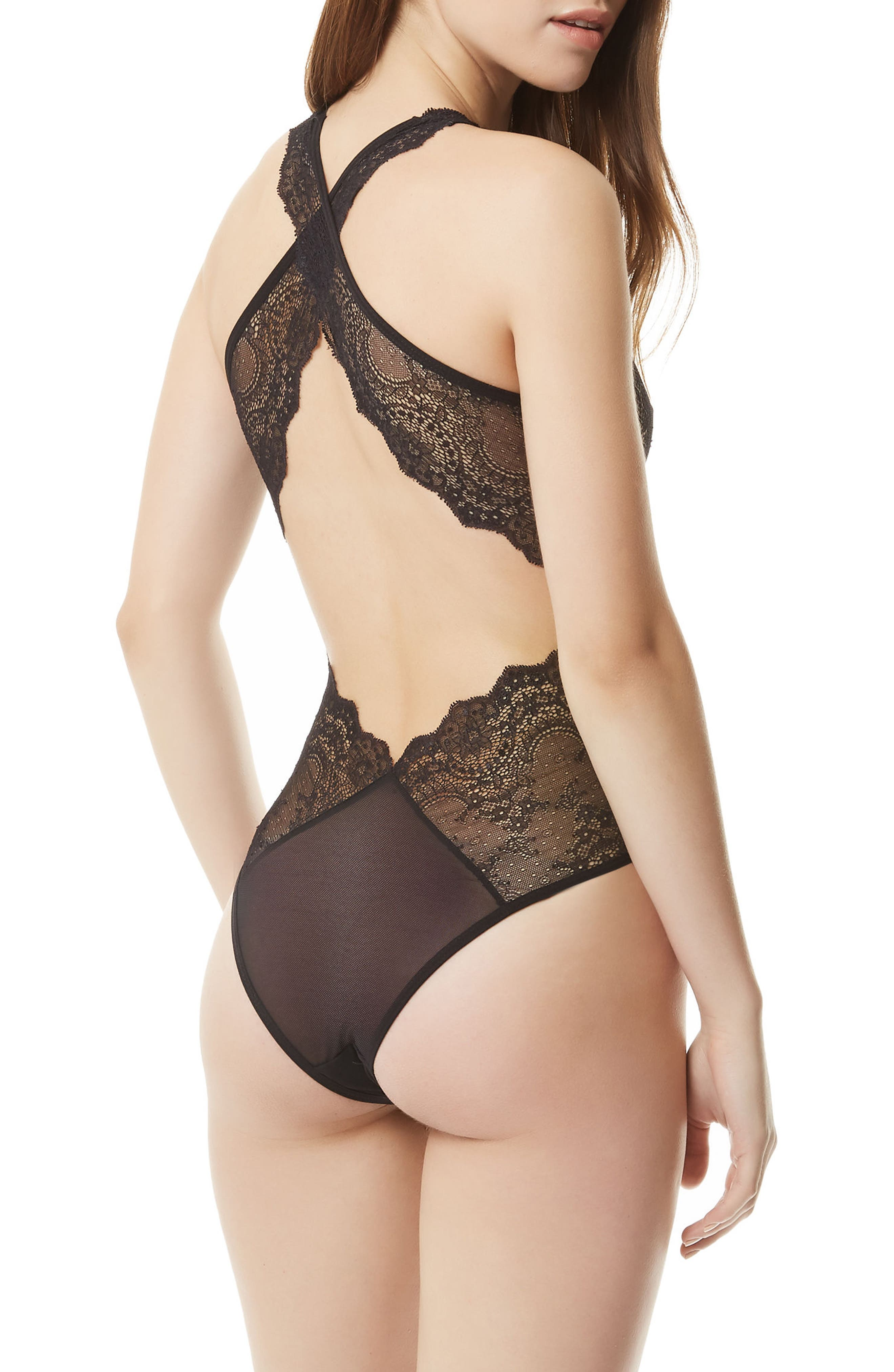 Adrienne Halter Teddy,                             Alternate thumbnail 2, color,                             Black