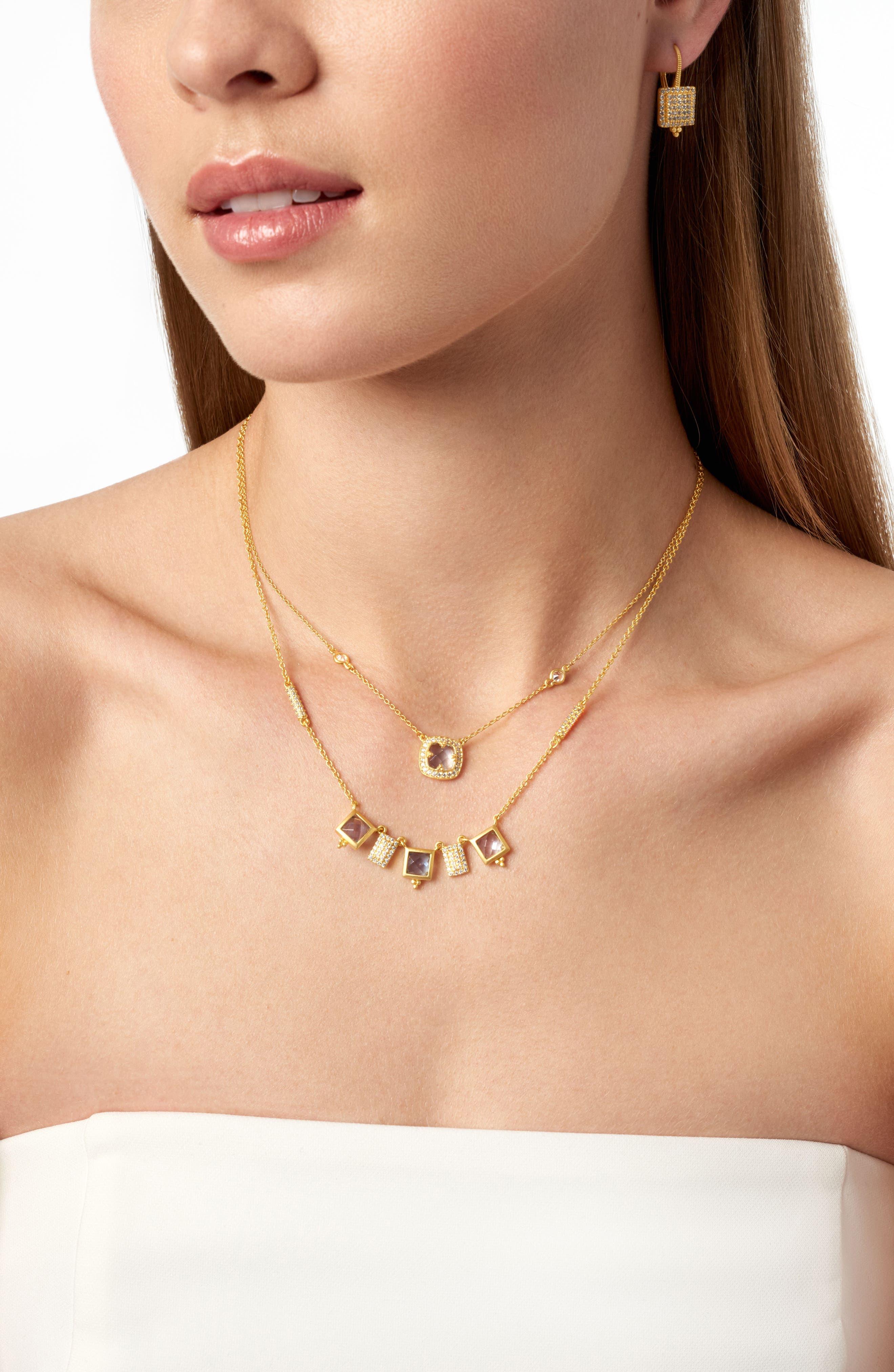 Alternate Image 3  - FREIDA ROTHMAN Ocean Azure Cubic Zirconia Pendant Necklace