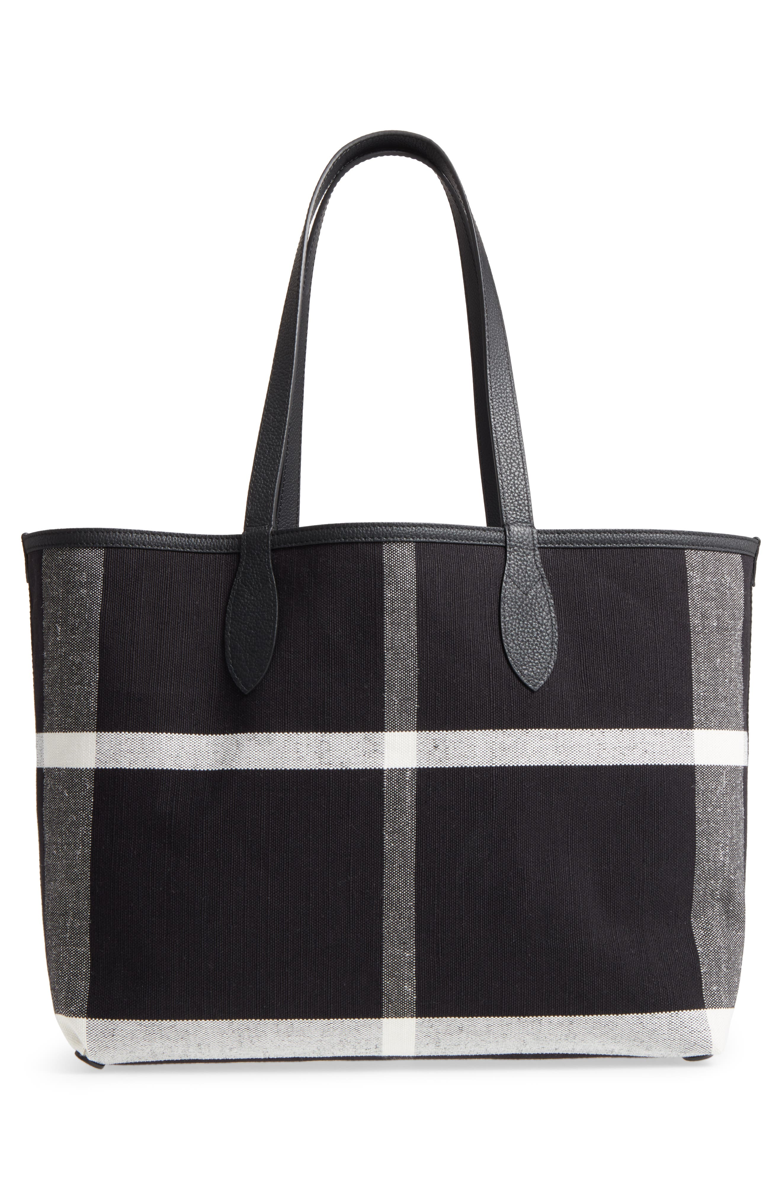 Alternate Image 4  - Burberry Doodletote/Check Reversible Canvas Tote