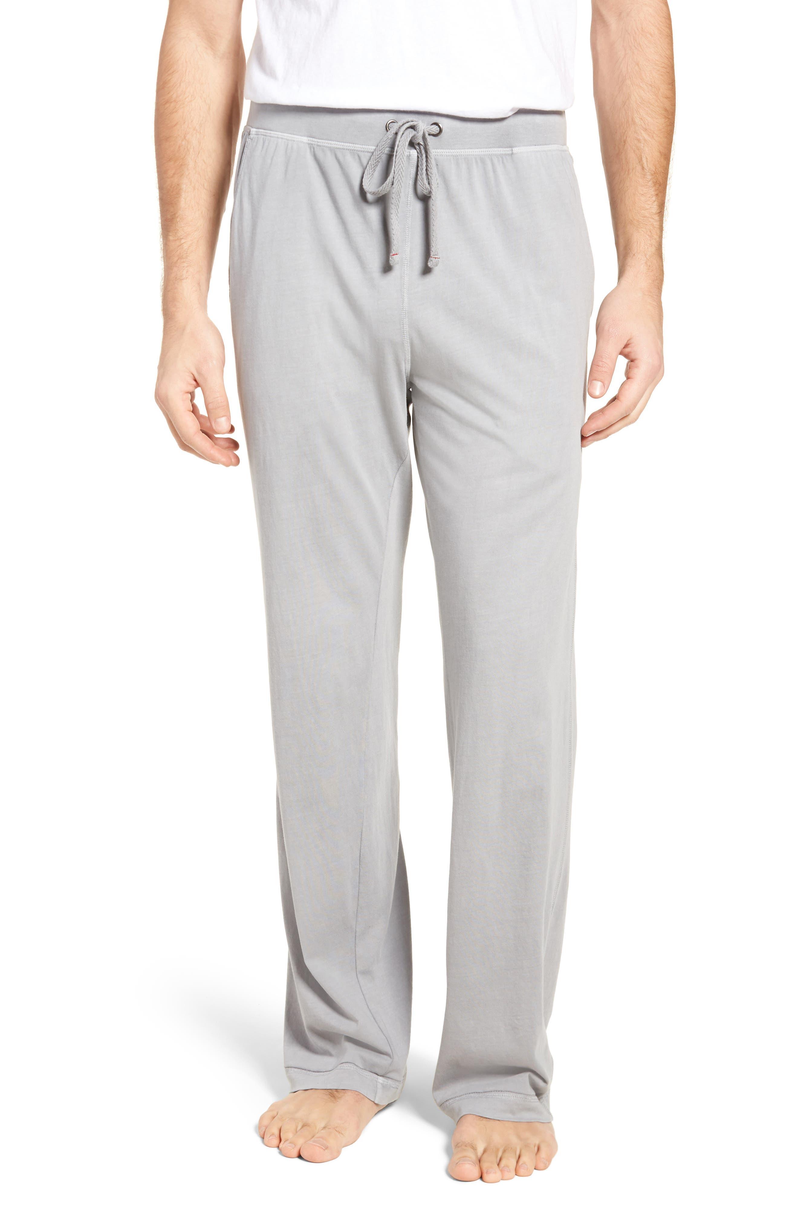 Peruvian Pima Cotton Lounge Pants,                             Main thumbnail 1, color,                             Grey