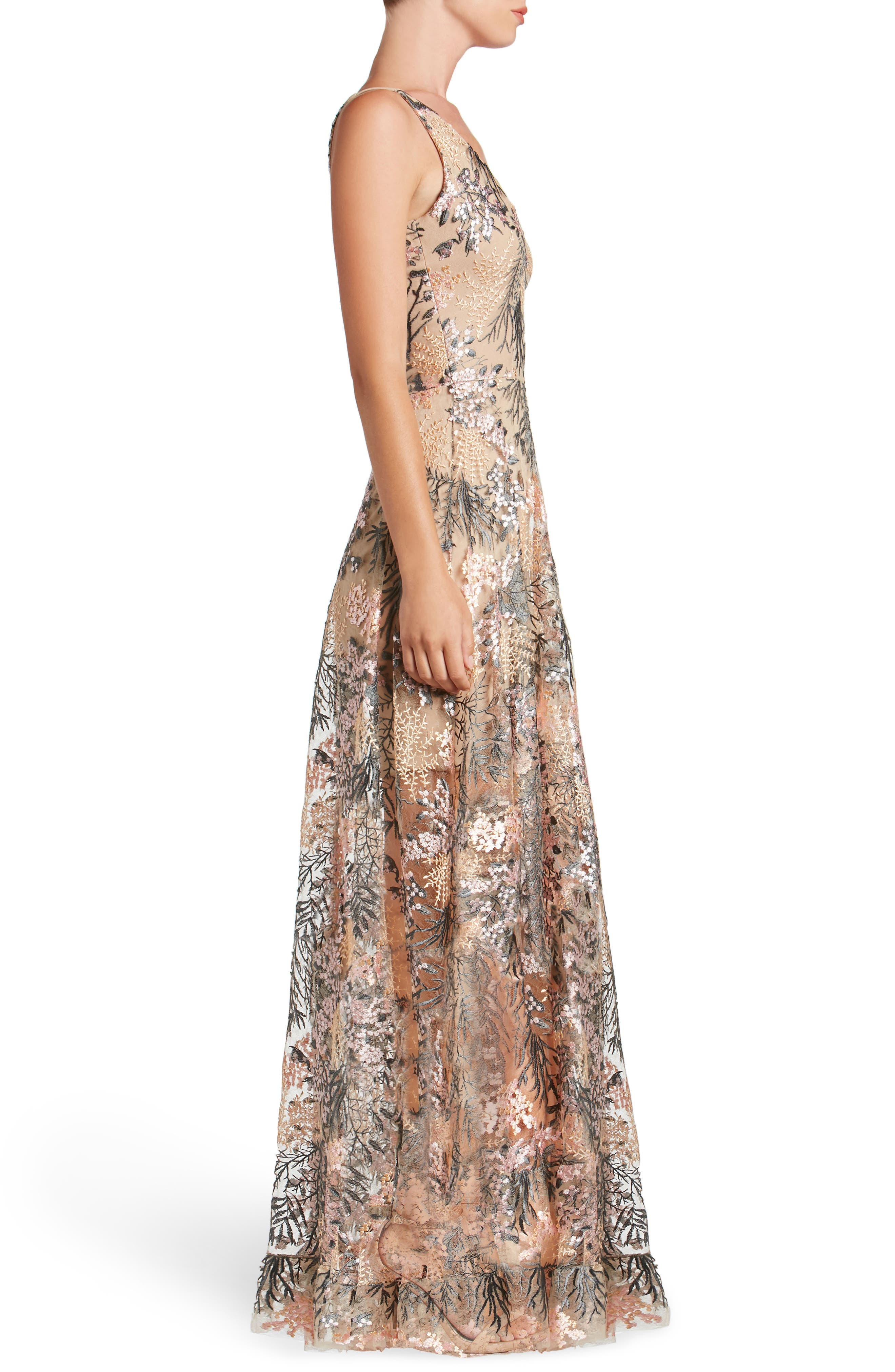 Alternate Image 3  - Dress the Population Sidney Embroidered Fit & Flare Gown