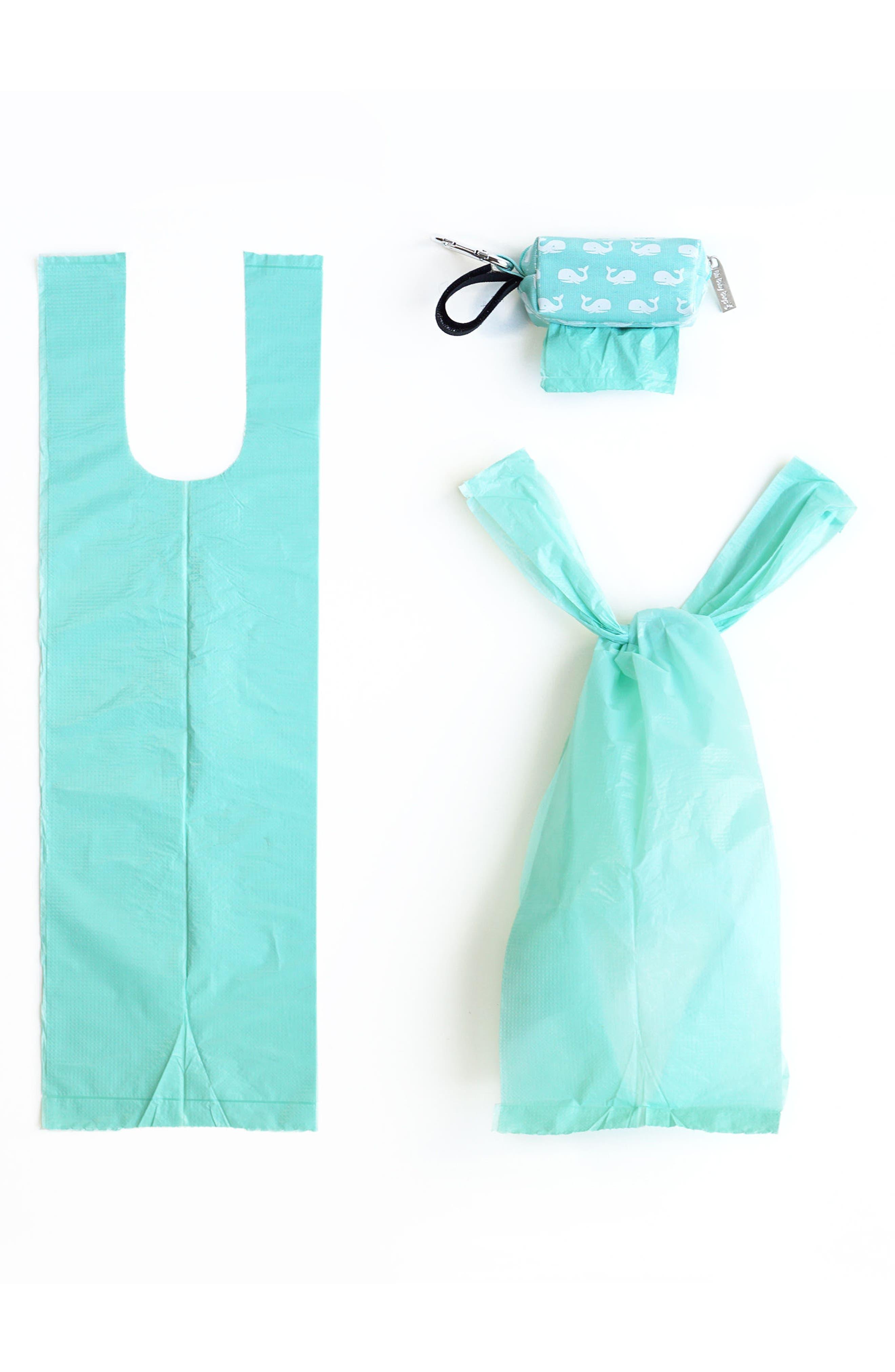 Portable Clip-On Dispenser & Bag Set,                             Alternate thumbnail 3, color,                             Navy/ Seafoam