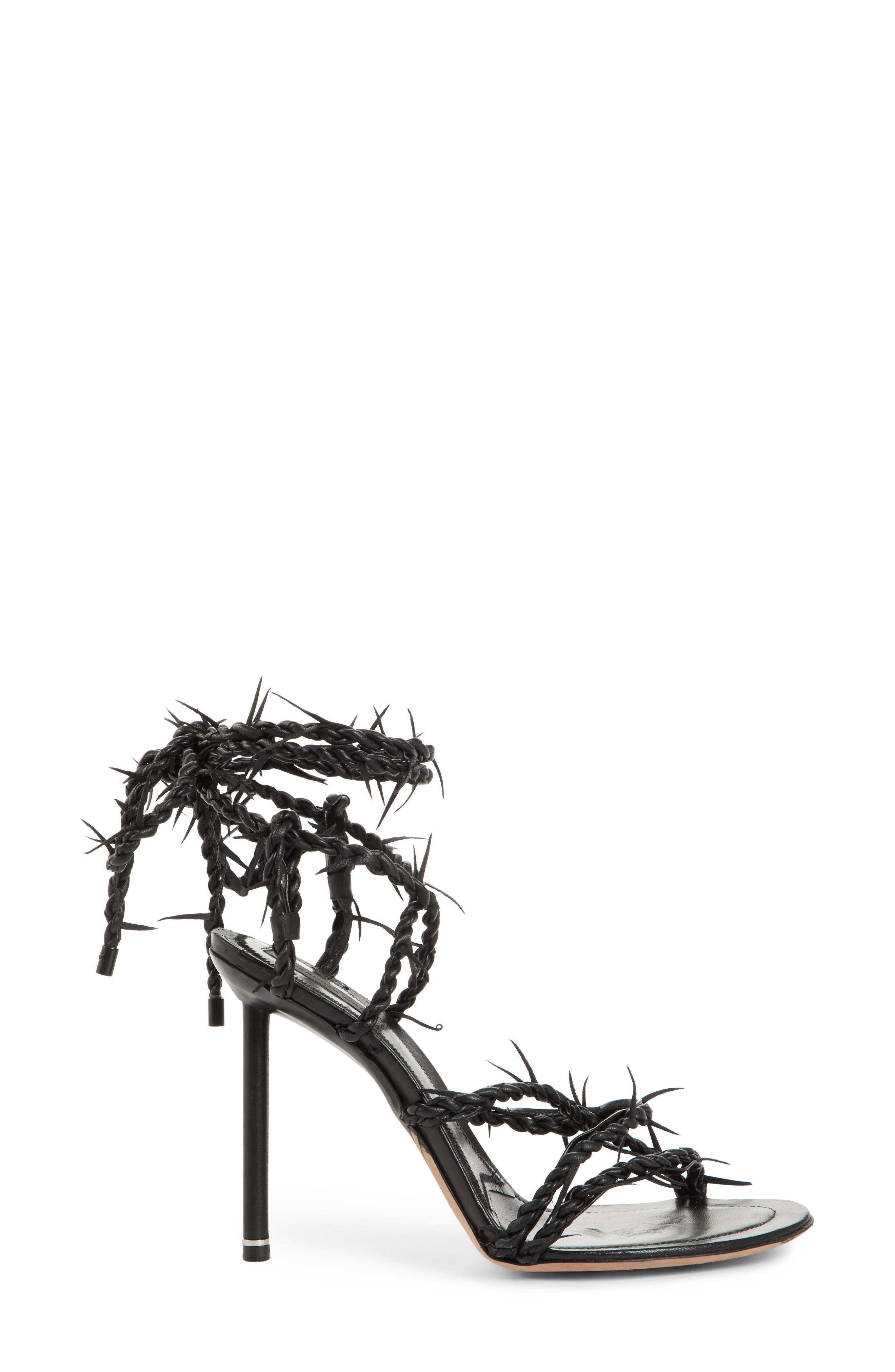 Lexie Cabel Wire Sandal,                             Alternate thumbnail 3, color,                             Black