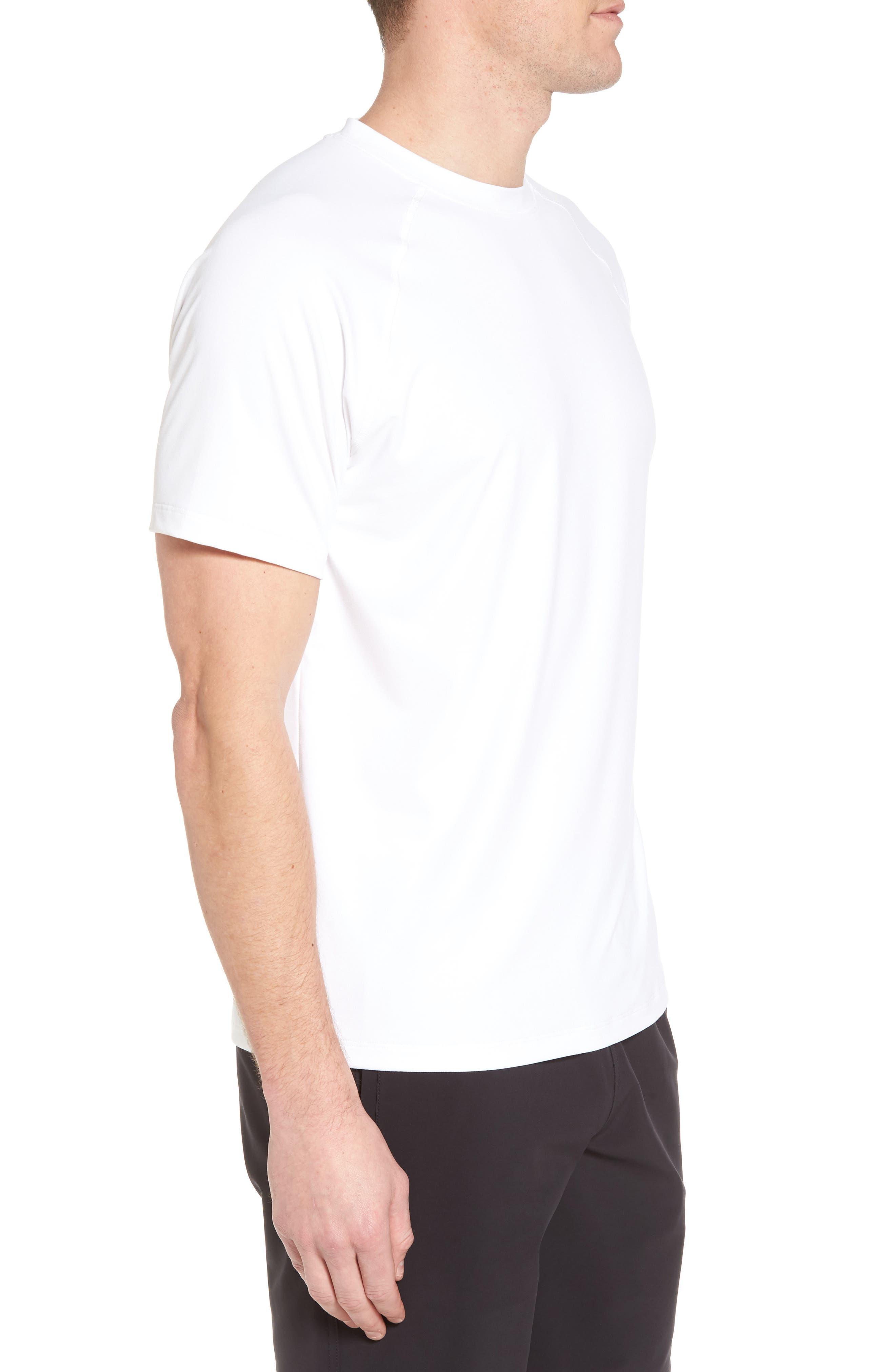 Rio Regular Fit Technical T-Shirt,                             Alternate thumbnail 3, color,                             White