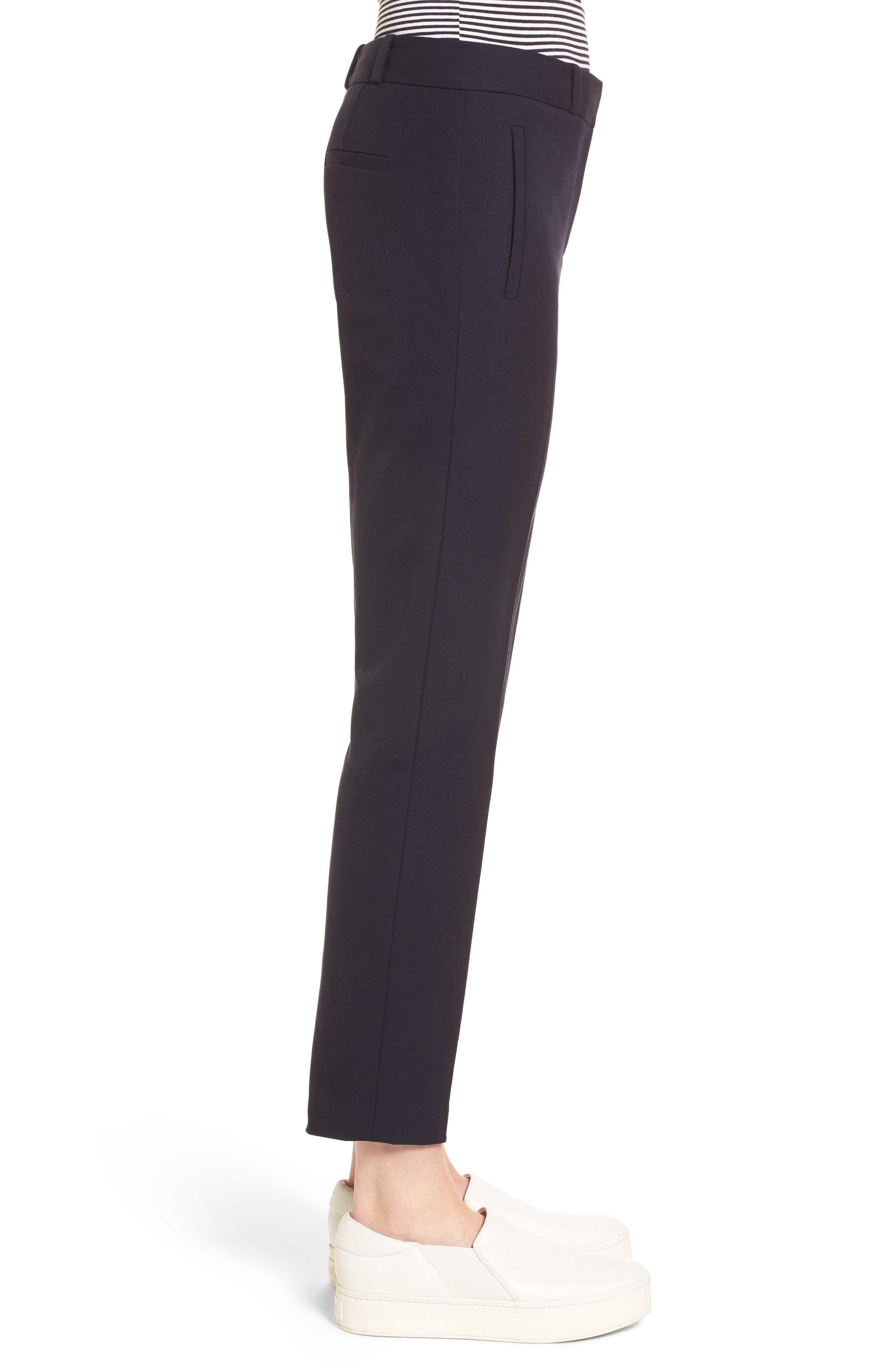 Welt Pocket Slim Leg Crop Pants,                             Alternate thumbnail 3, color,                             Navy Night