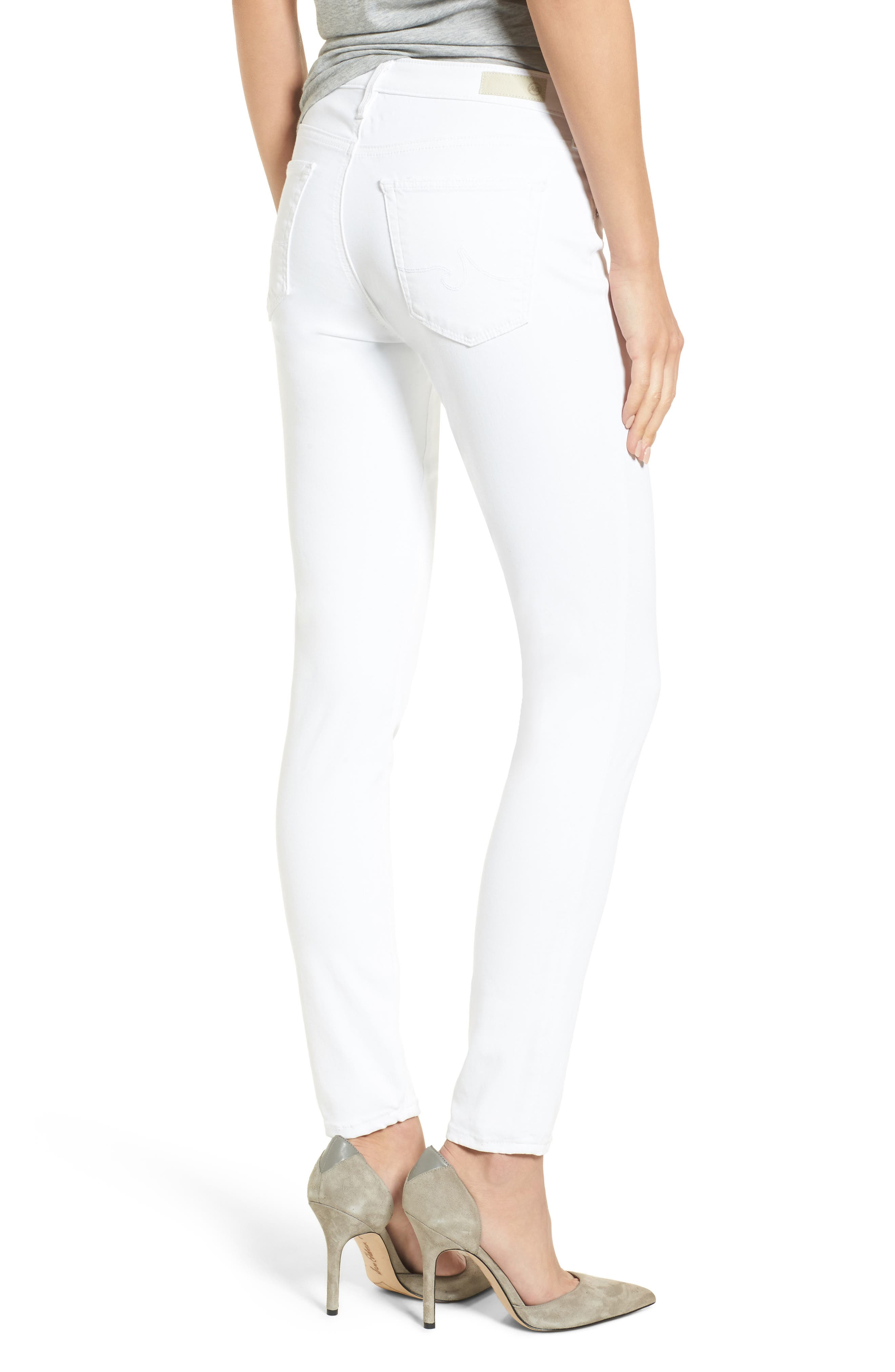 The Legging Ankle Super Skinny Jeans,                             Alternate thumbnail 2, color,                             White