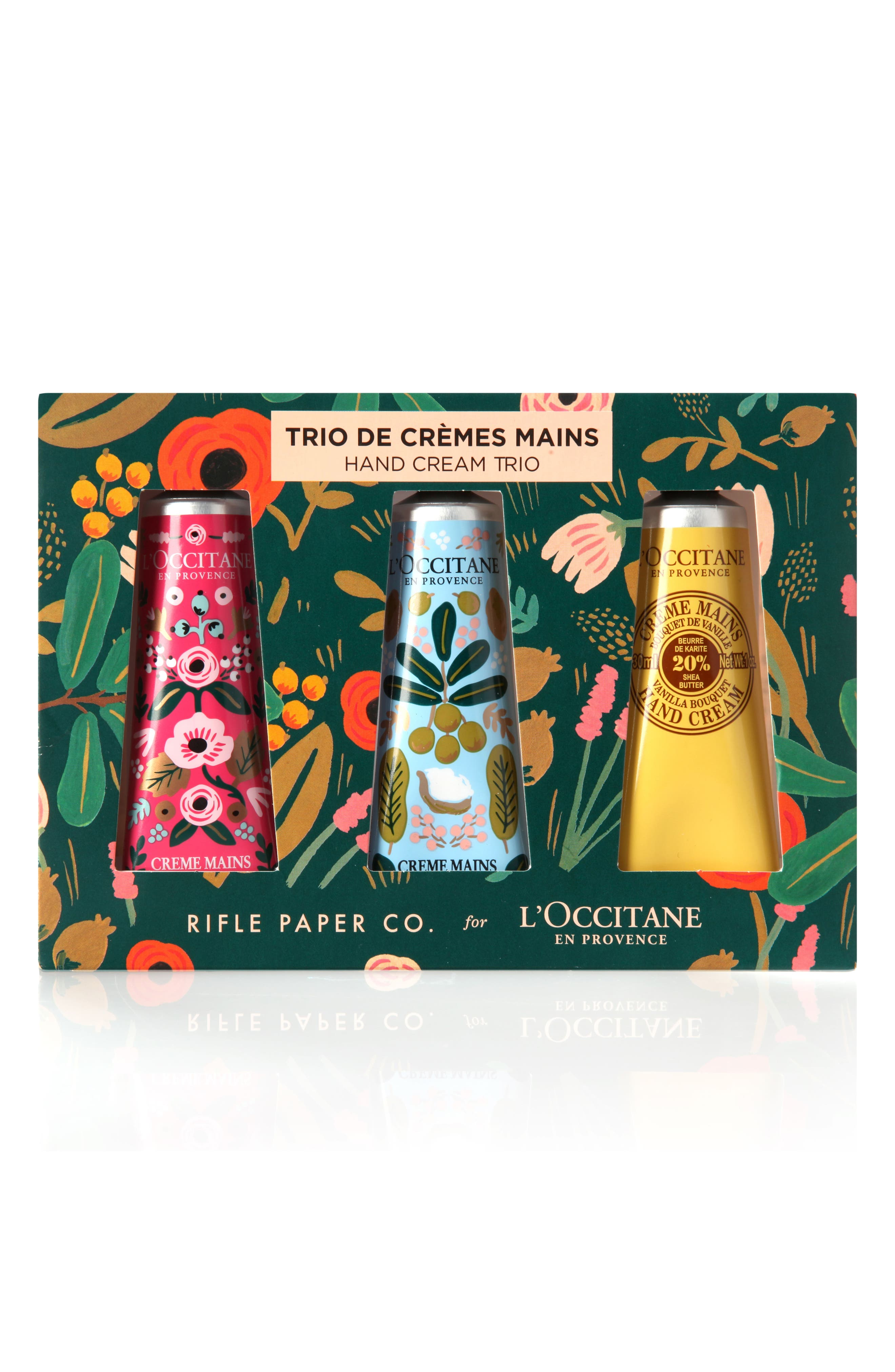 Rifle Paper Co. Shea Butter Hand Cream Trio,                             Main thumbnail 1, color,                             No Color