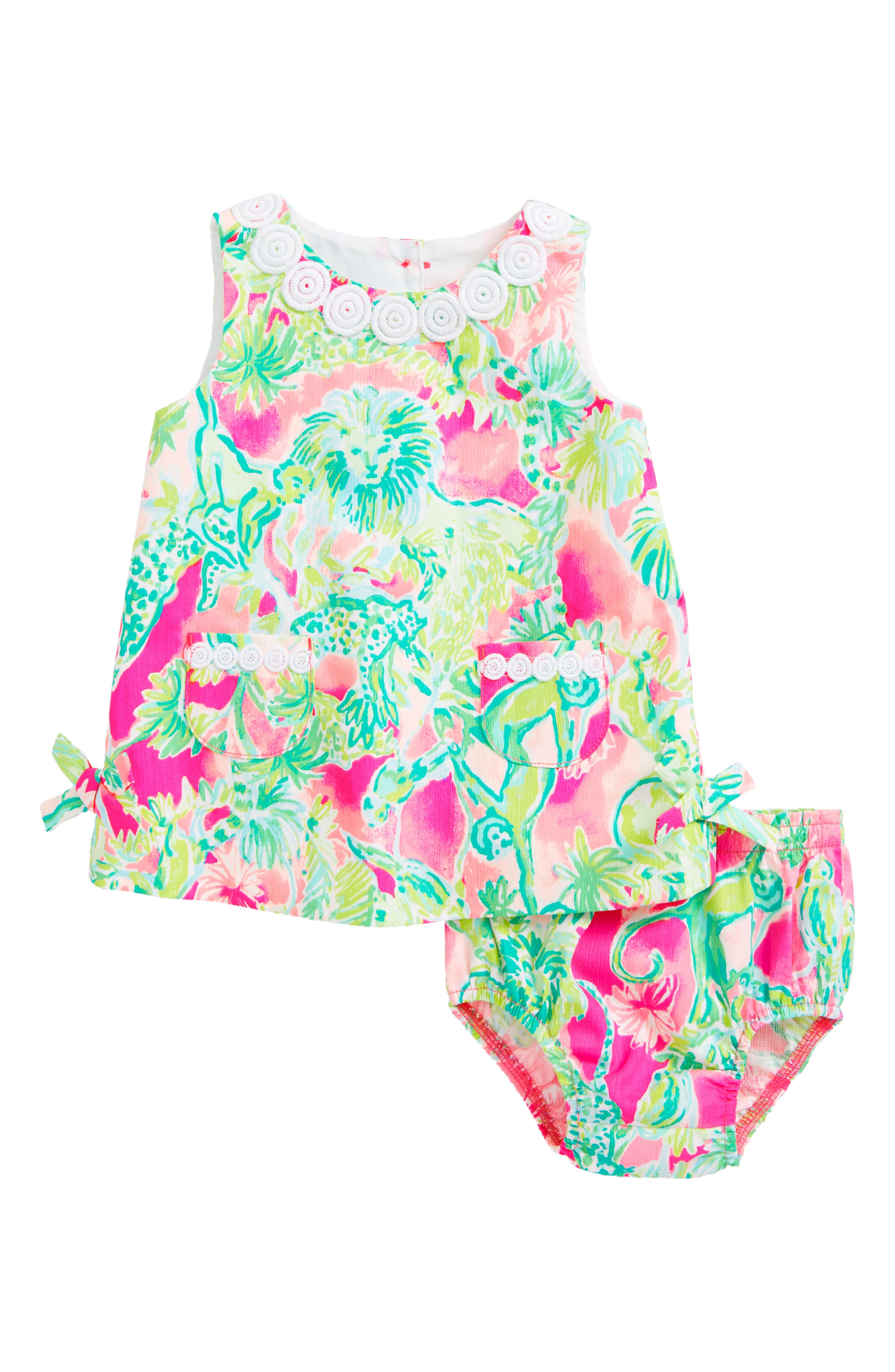 Baby Lilly Shift Dress,                         Main,                         color, Raz Berry Catty Shack