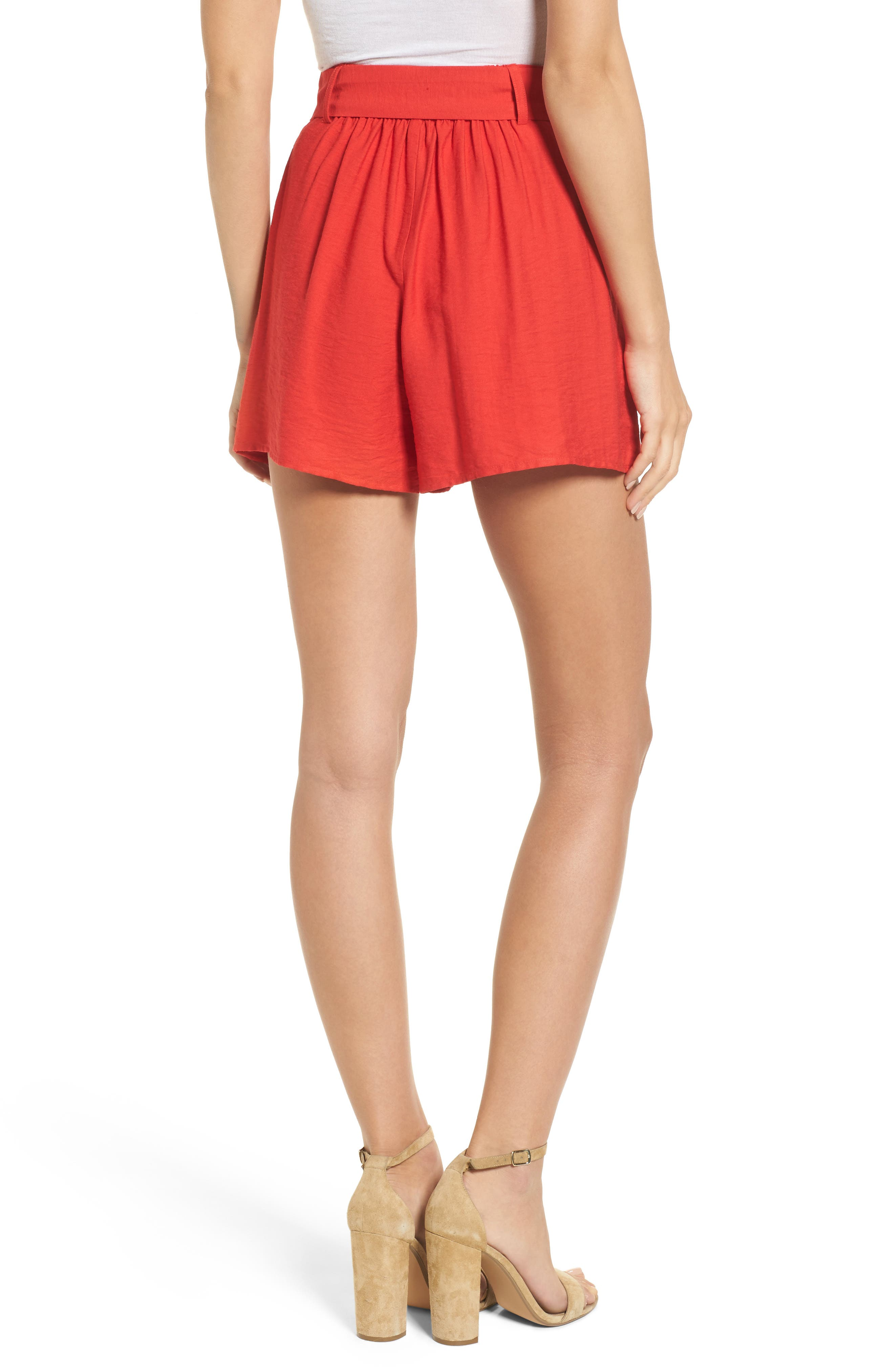 Alternate Image 3  - Moon River Belted High Waist Shorts