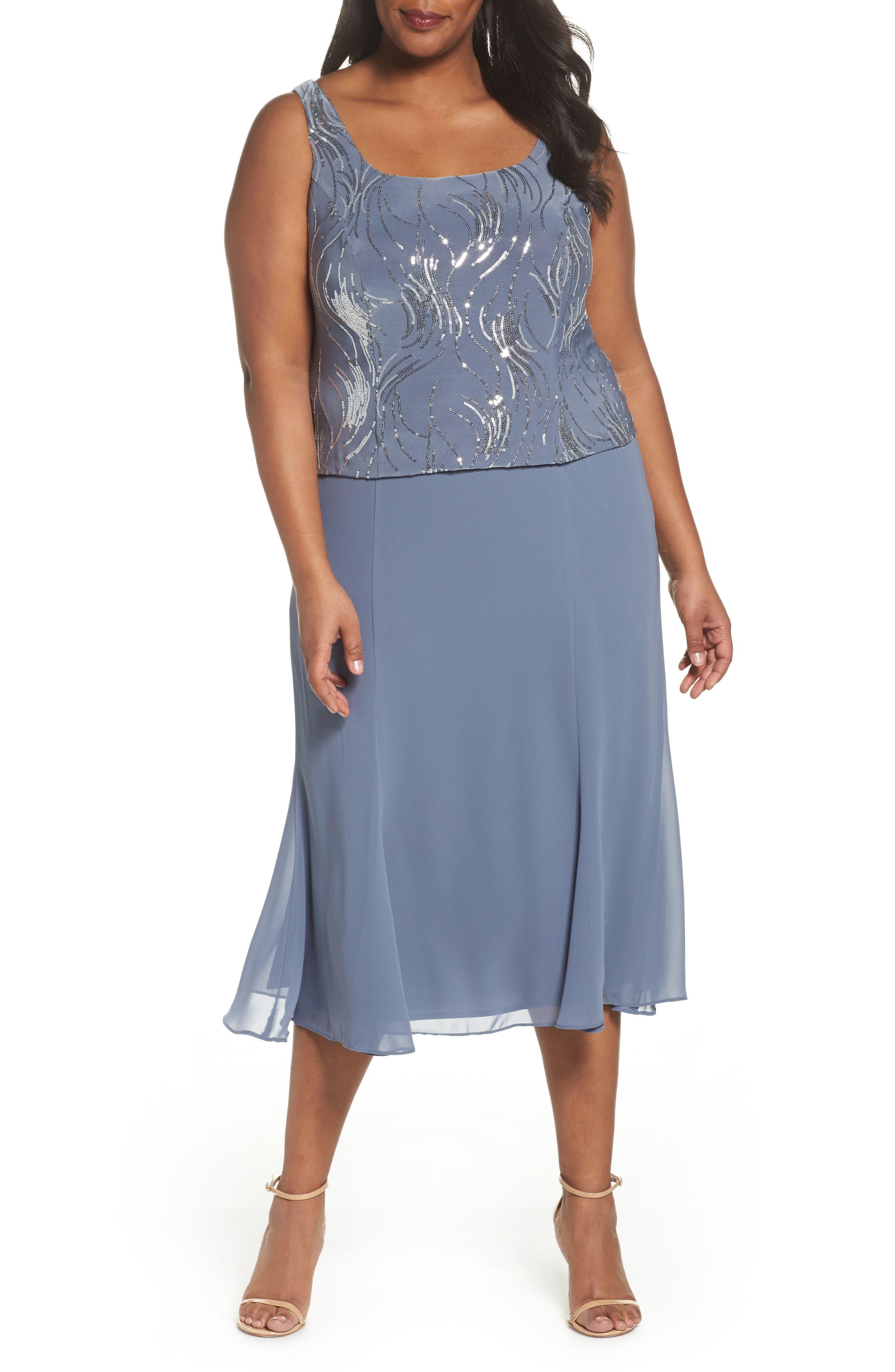 Alternate Image 4  - Alex Evenings Mock Two-Piece Jacket Dress (Plus Size)