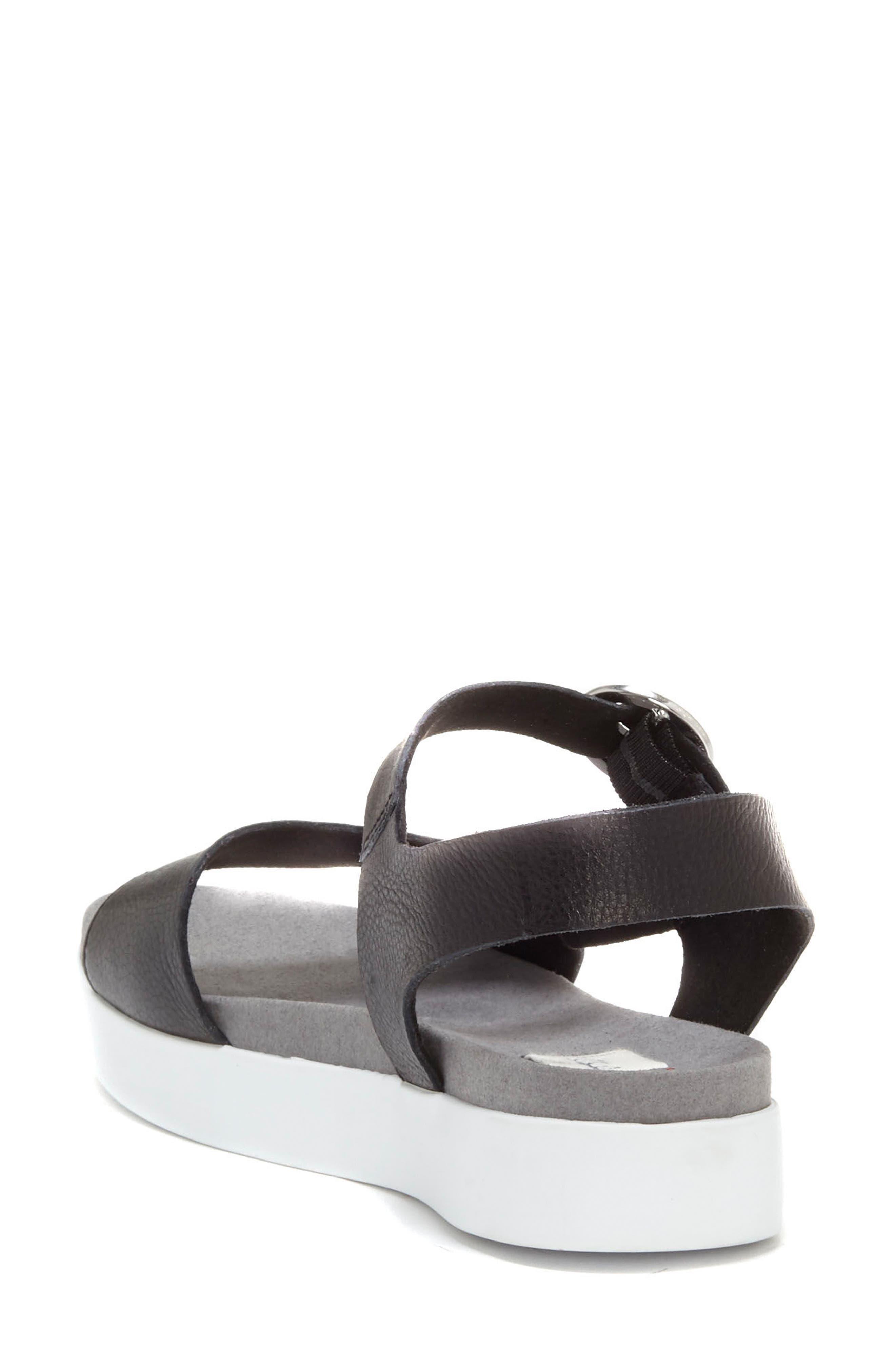 Caspin Sandal,                             Alternate thumbnail 2, color,                             Black Leather