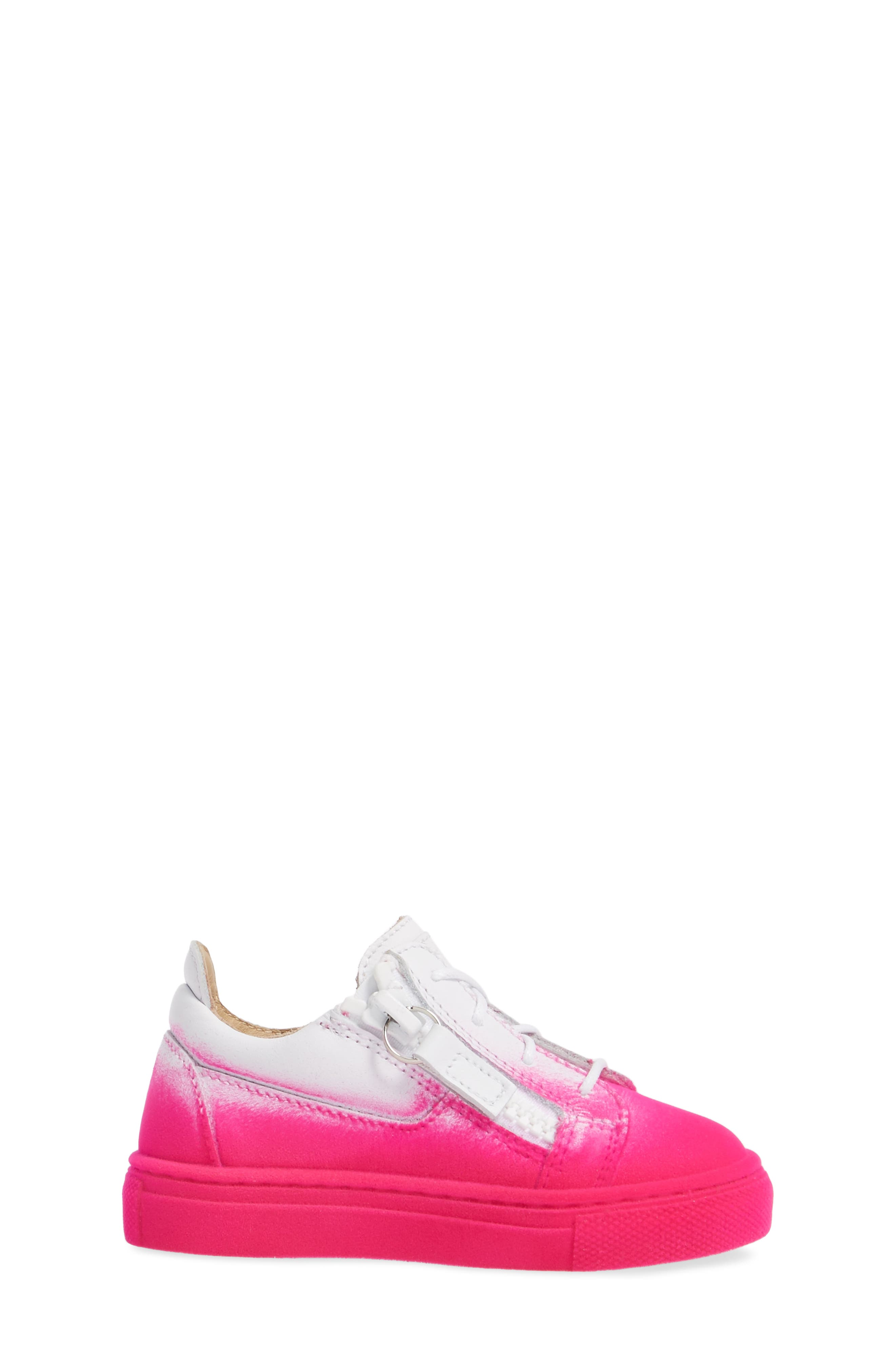Alternate Image 3  - Giuseppe Zanotti Smuggy Ombré Flocked Sneaker (Baby, Walker, Toddler & Little Kid)