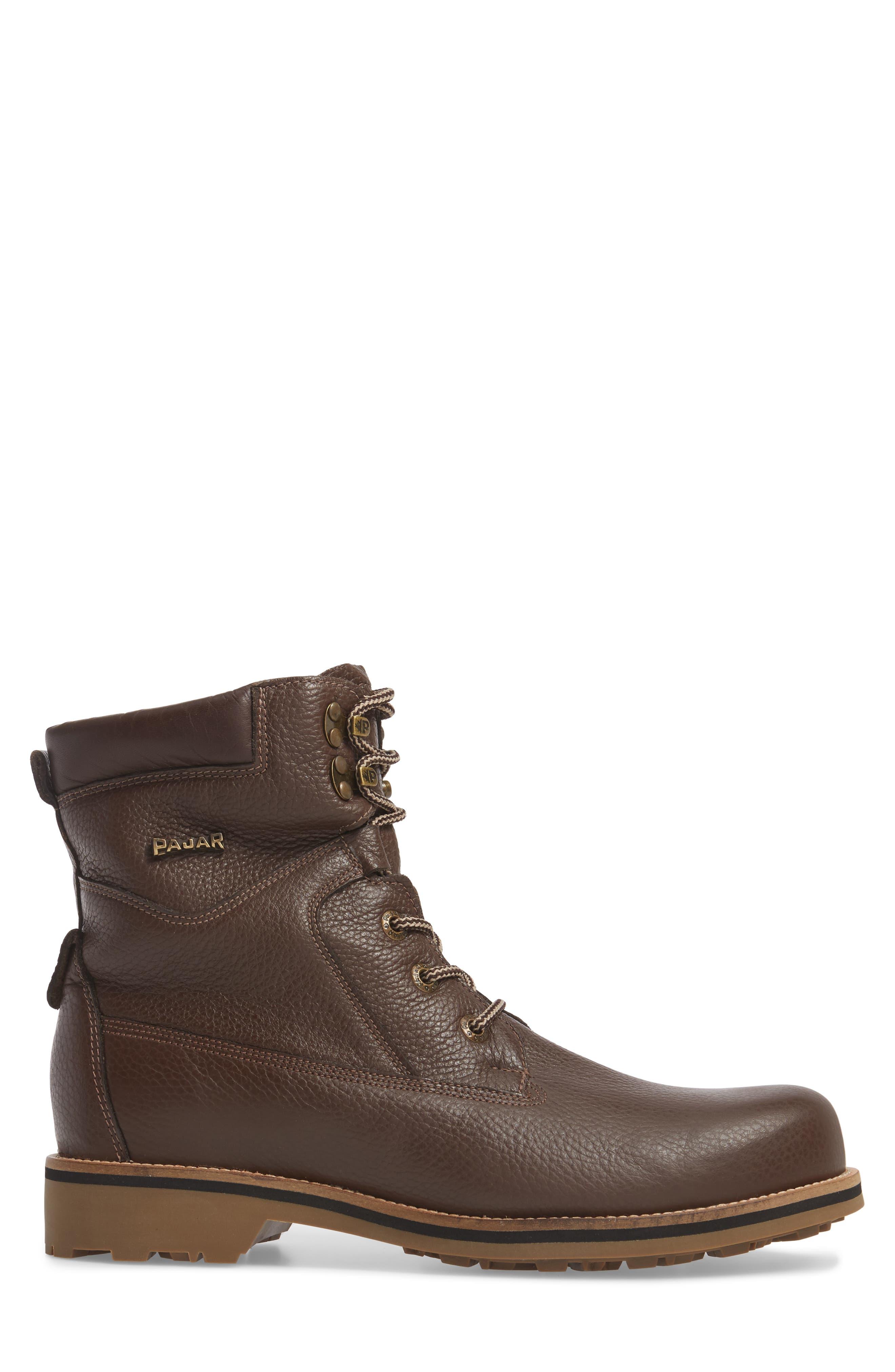 David Plain Toe Boot,                             Alternate thumbnail 3, color,                             Chocolate Leather
