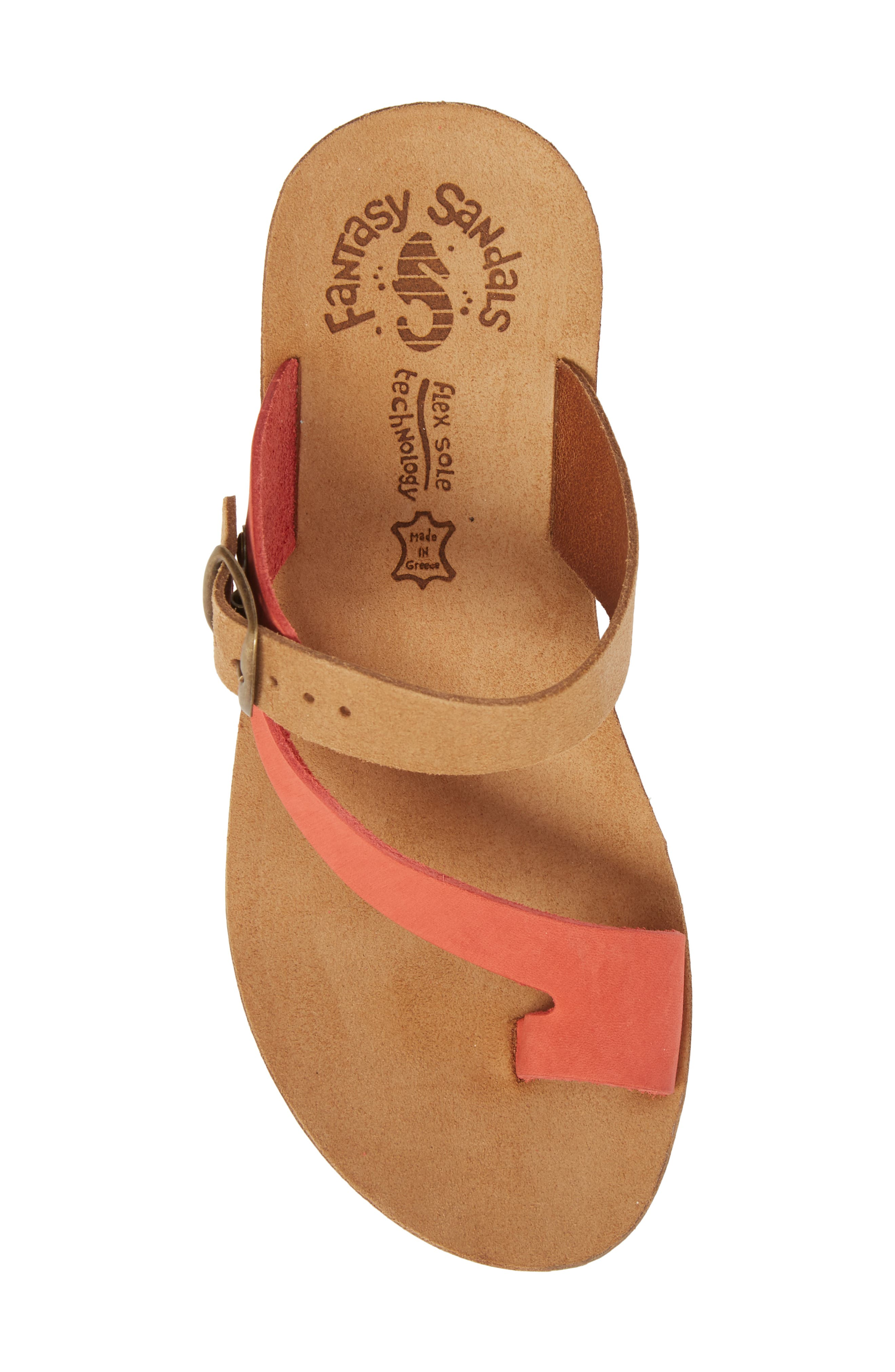 Felisa Wedge Sandal,                             Alternate thumbnail 5, color,                             Cuoio Red Leather