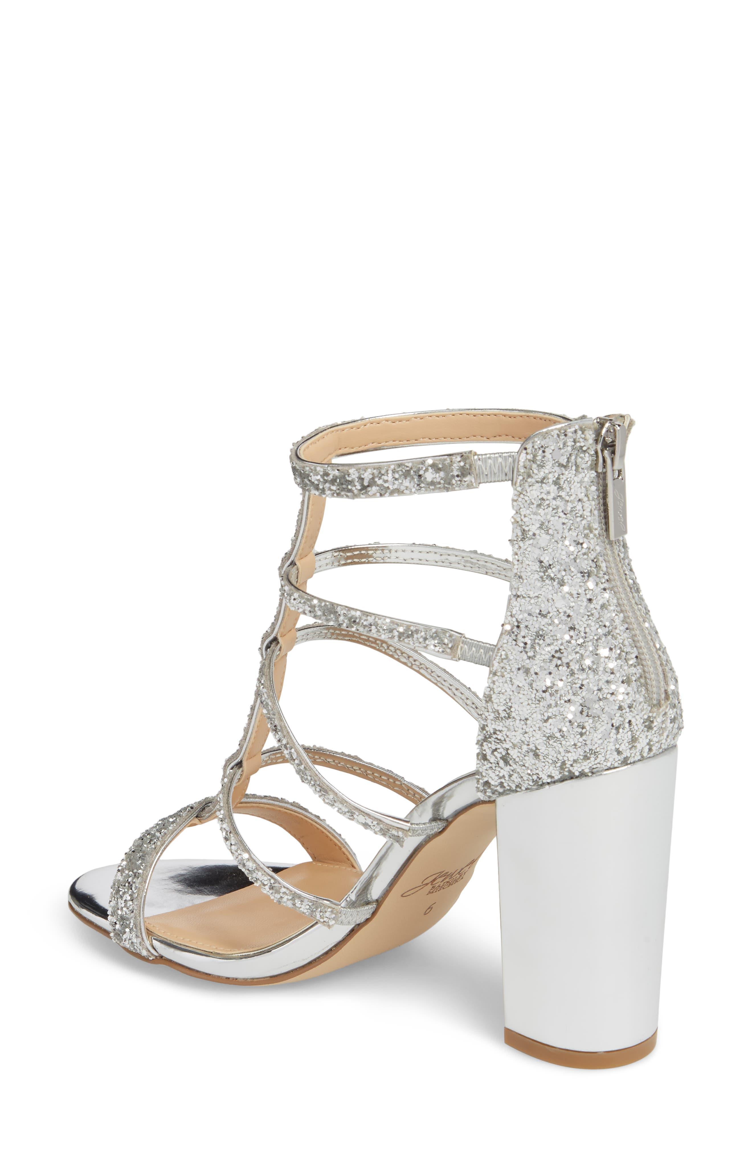 Alternate Image 2  - Jewel Badgley Mischka Tiffy Glitter Sandal (Women)