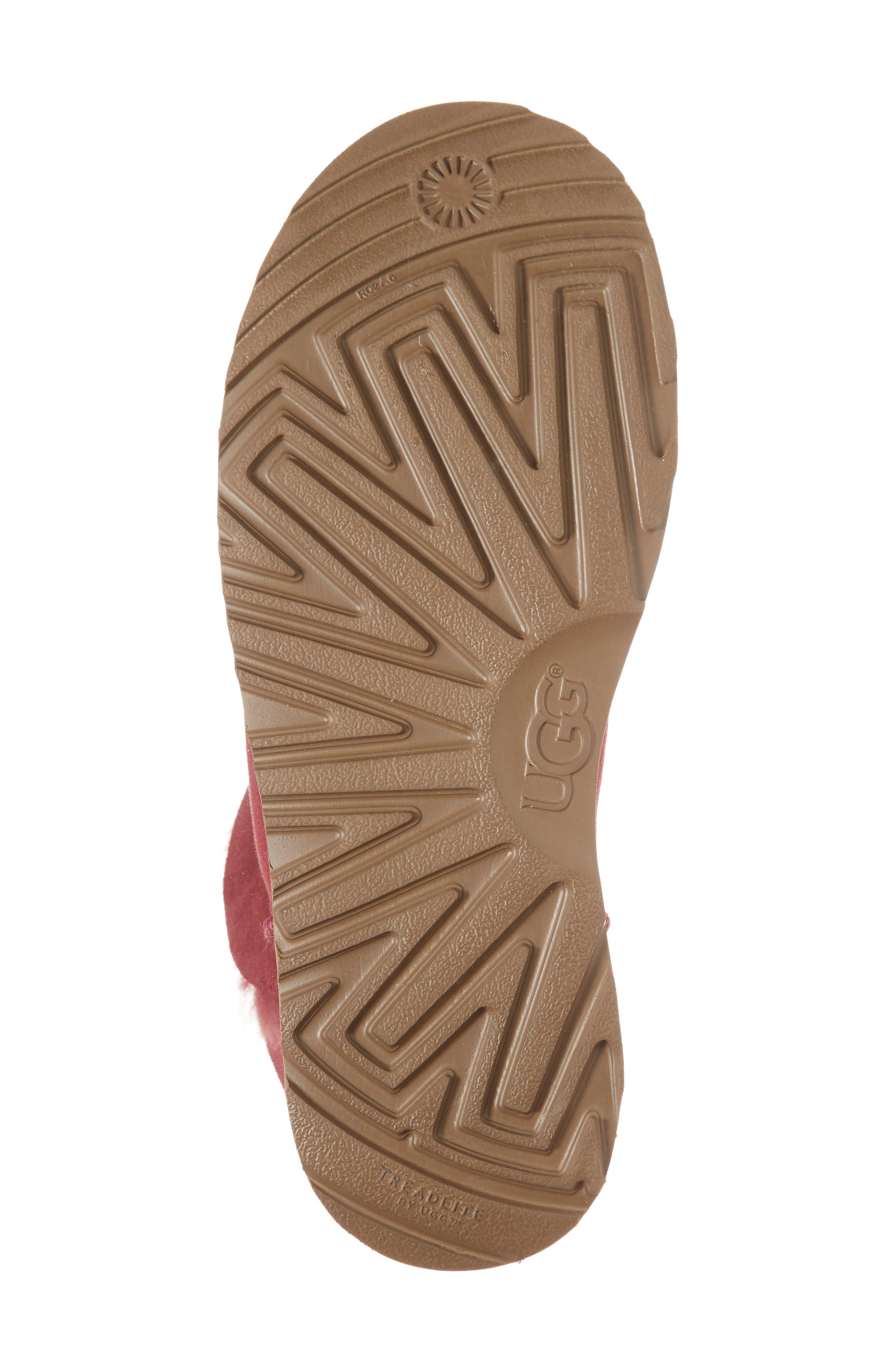 Classic Cuff Mini Boot,                             Alternate thumbnail 6, color,                             Garnet Suede