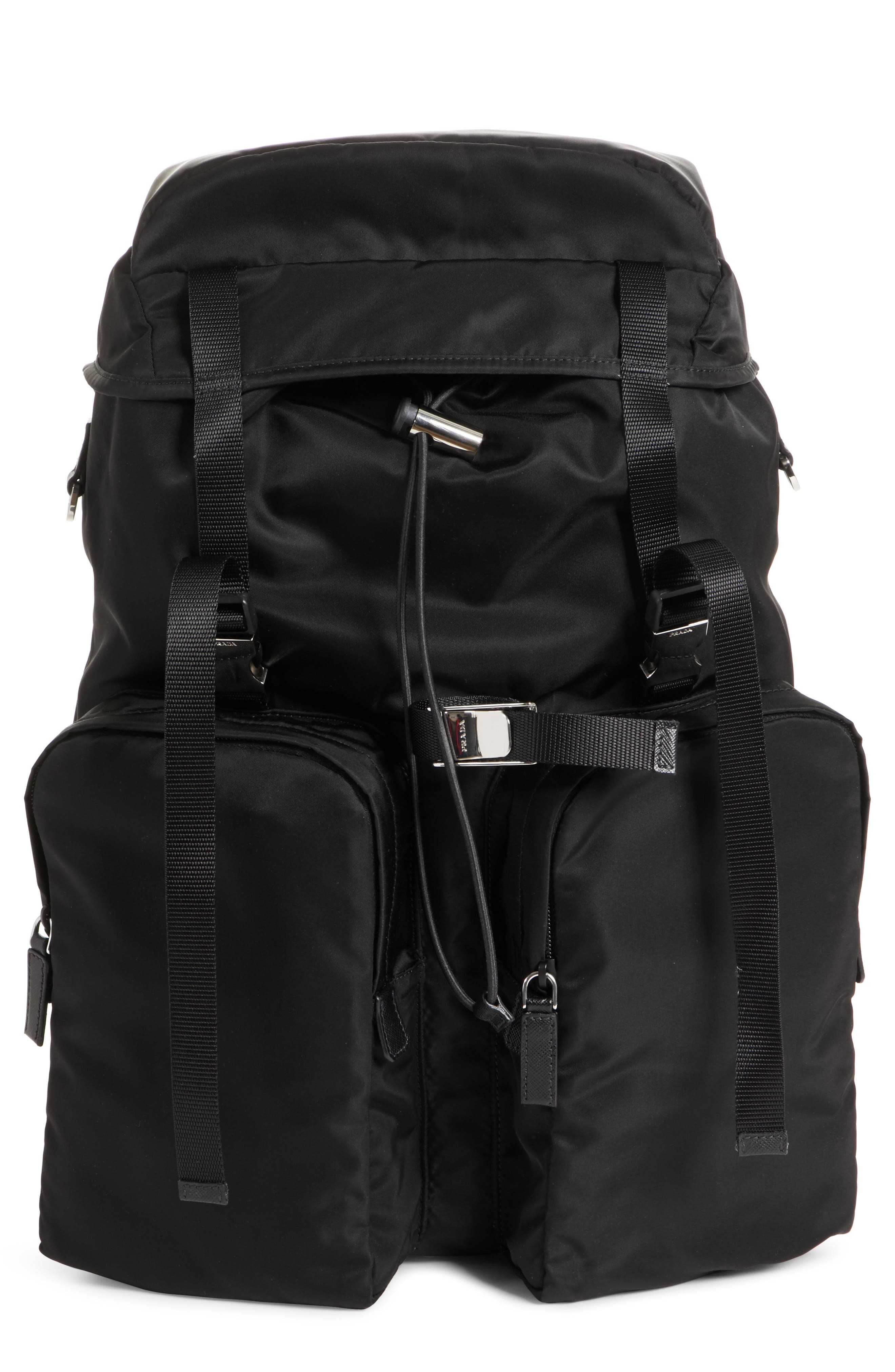 5e8f7ad5c6fc29 ... coupon prada montagna flap double pocket backpack 78efa 543d3