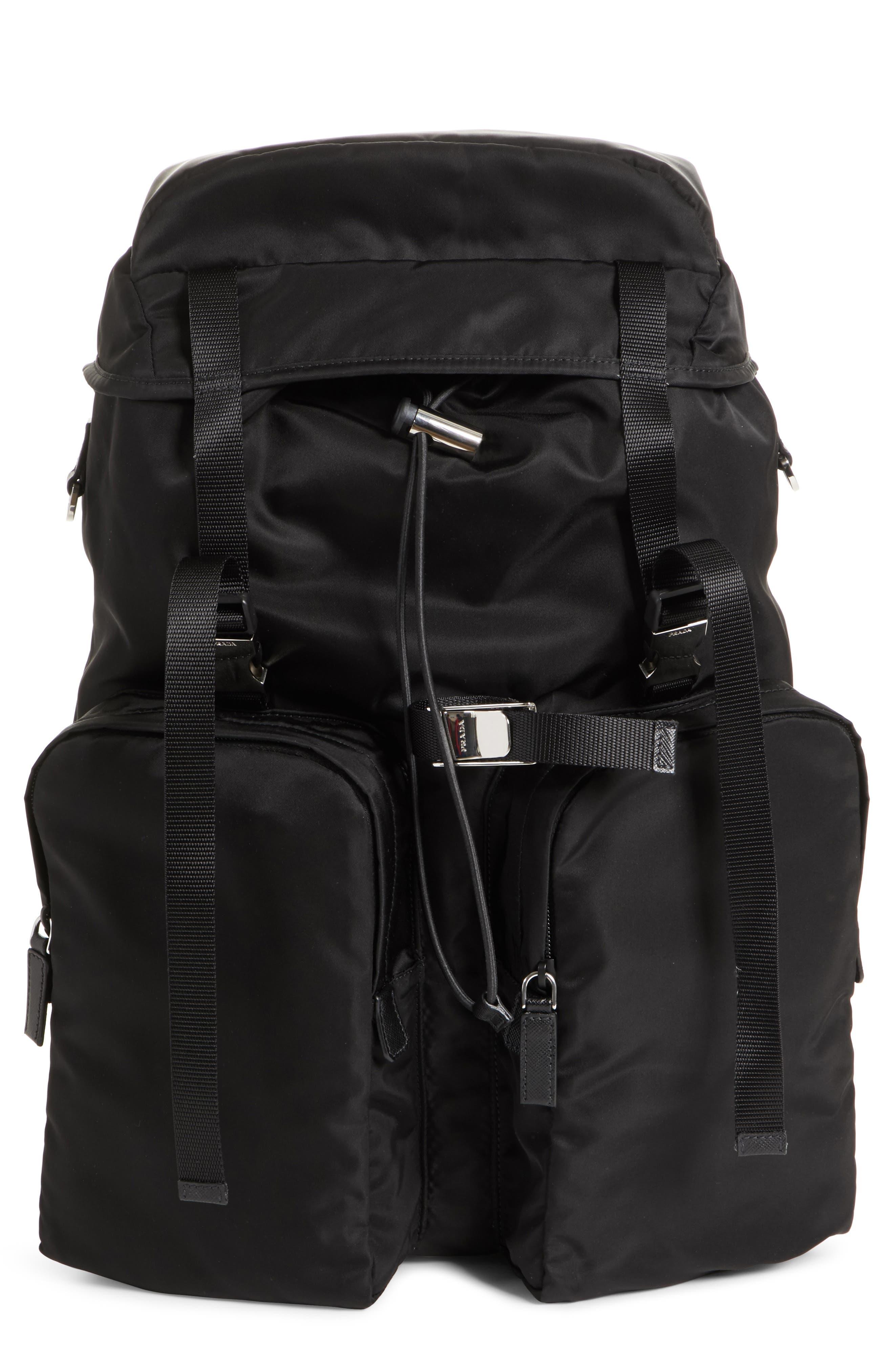 Prada Montagna Flap Double Pocket Backpack