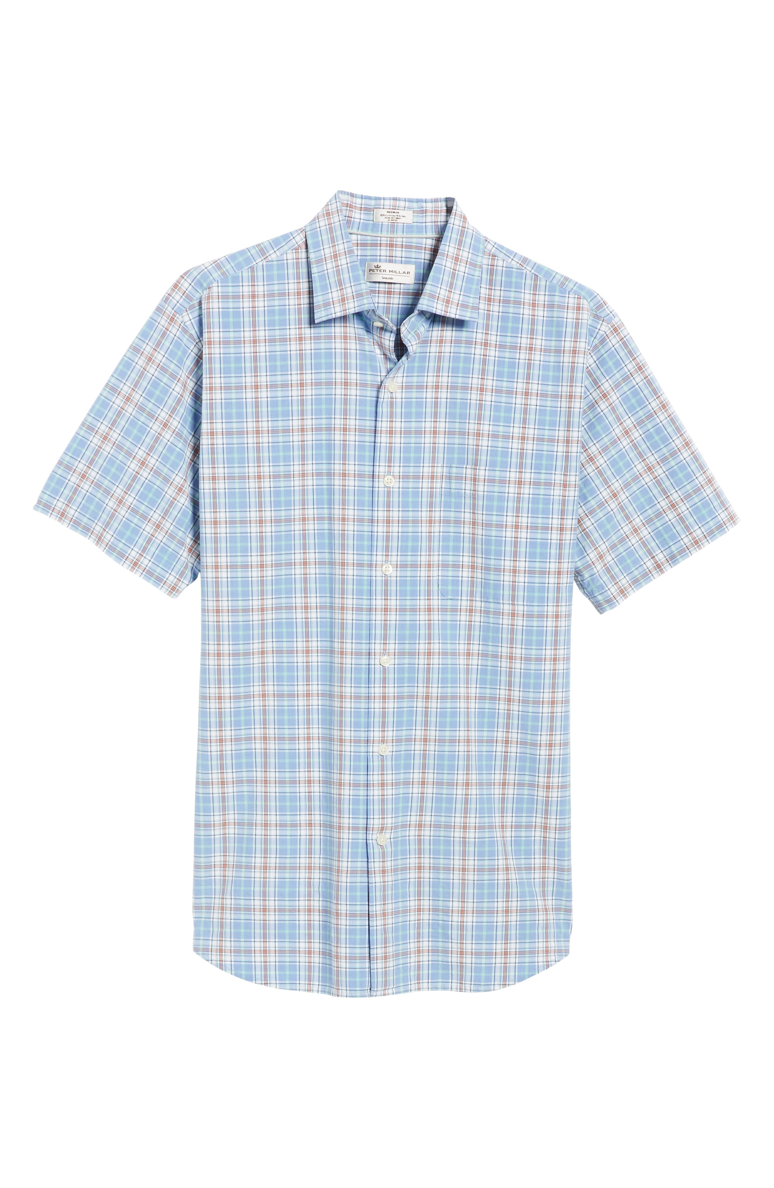 Rockport Plaid Sport Shirt,                             Alternate thumbnail 6, color,                             Bonnet