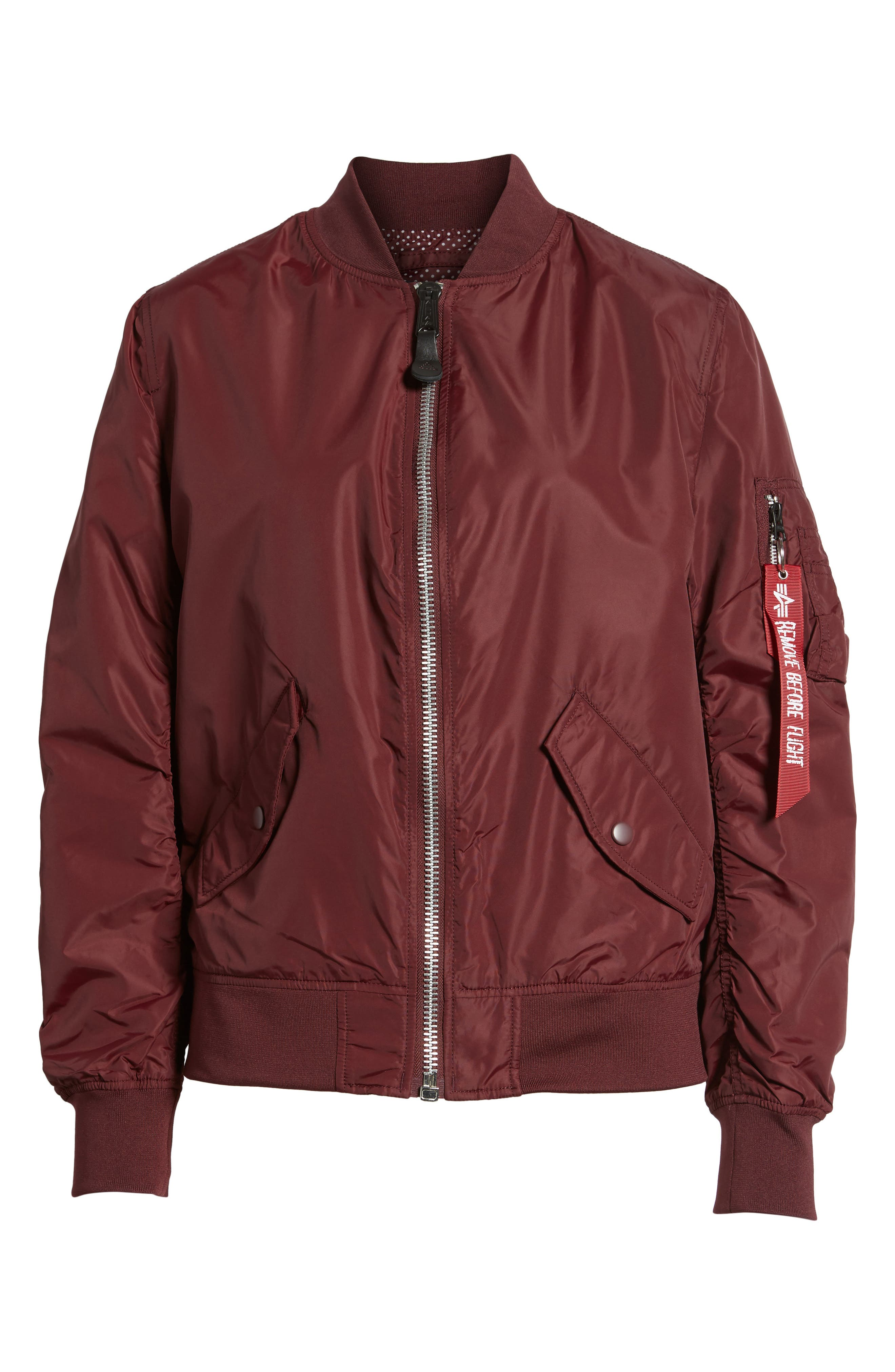 Alternate Image 6  - Alpha Industries L-2B Scout Water Resistant Flight Jacket