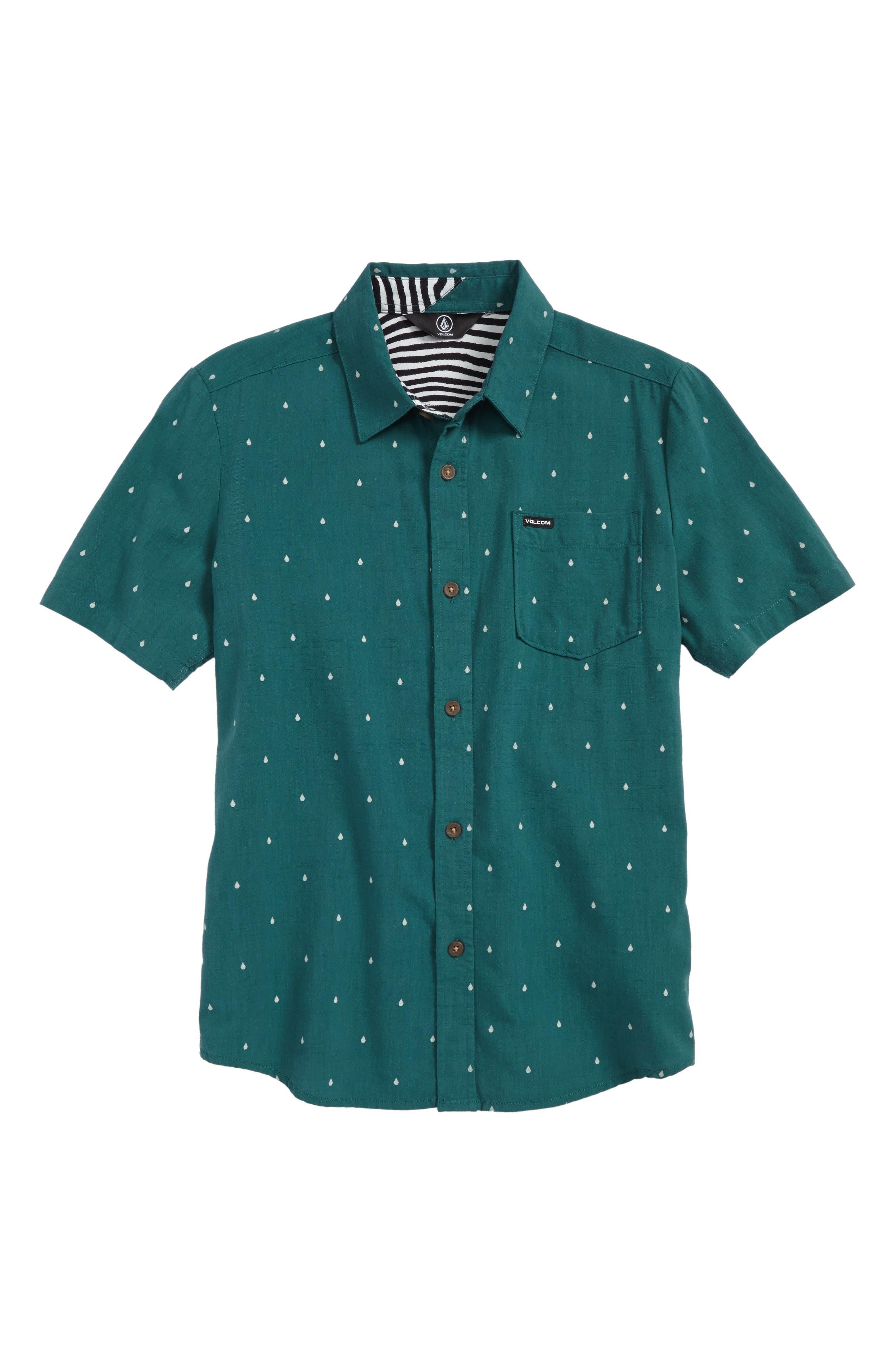 Main Image - Volcom Stone Logo Jacquard Shirt (Big Boys)