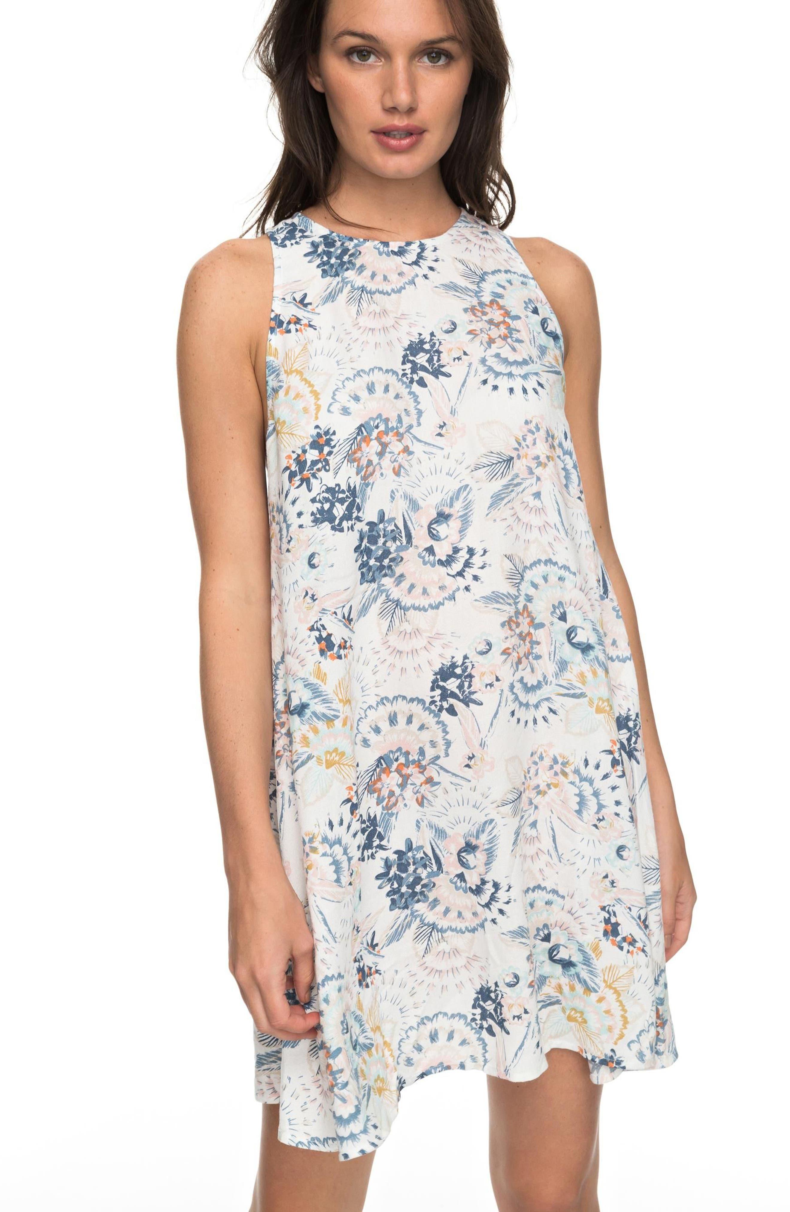 Sweet Seas Trapeze Dress,                             Alternate thumbnail 2, color,                             Marshmallow Mahna Mahna
