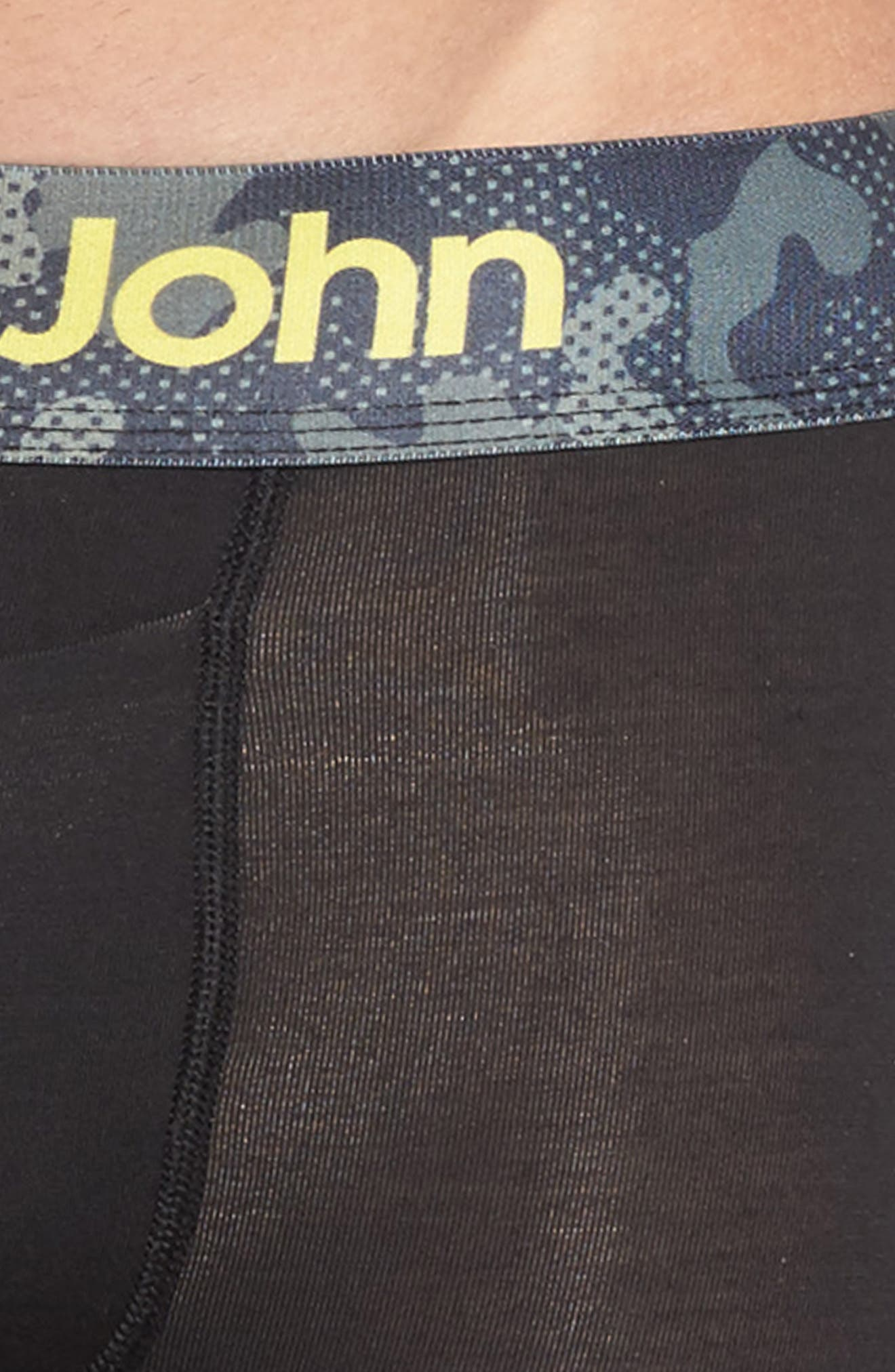 Kevin Hart Second Skin Boxer Briefs,                             Alternate thumbnail 4, color,                             Black