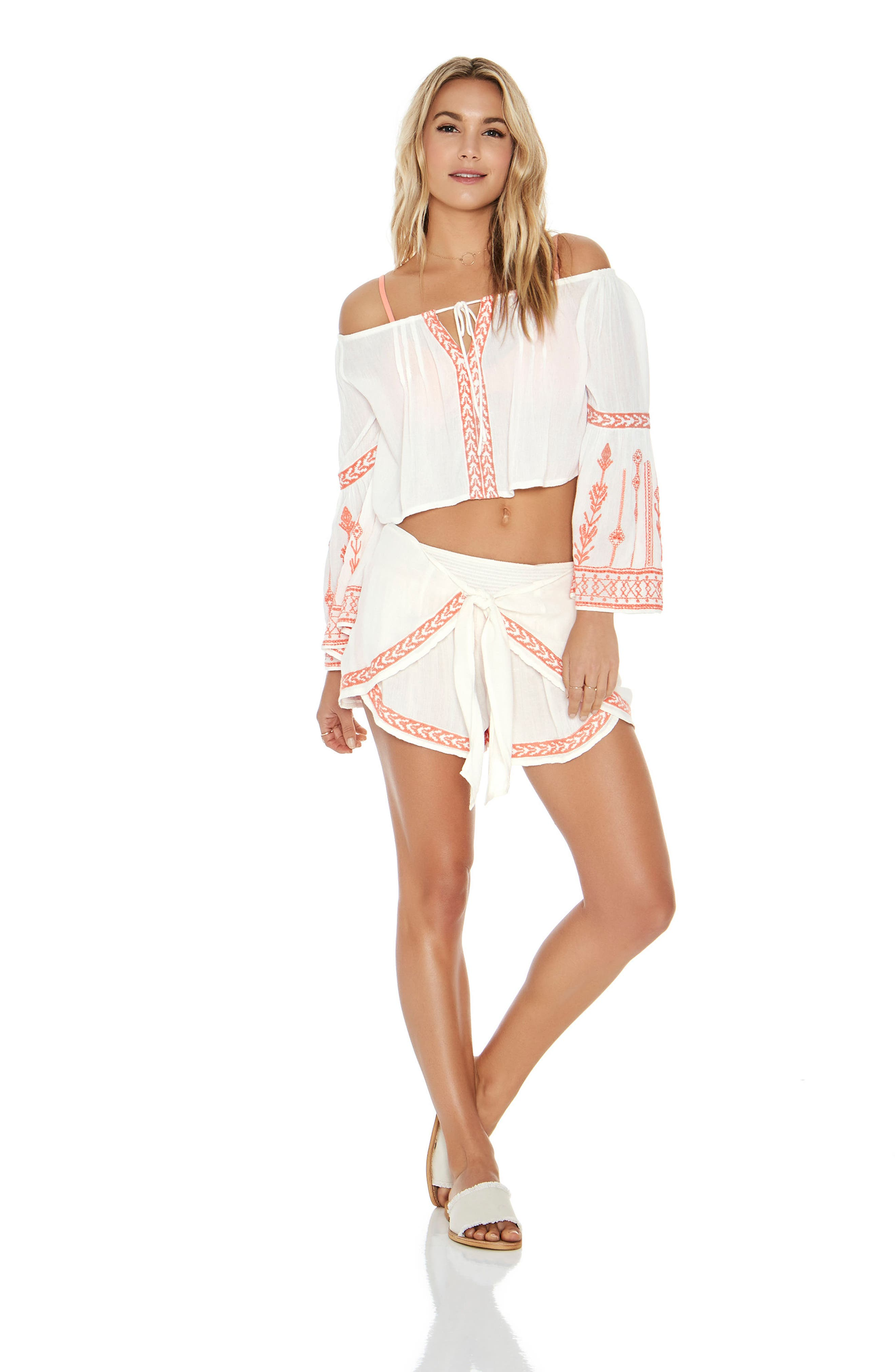 Crawford Cover-Up Top,                             Alternate thumbnail 3, color,                             Ivory
