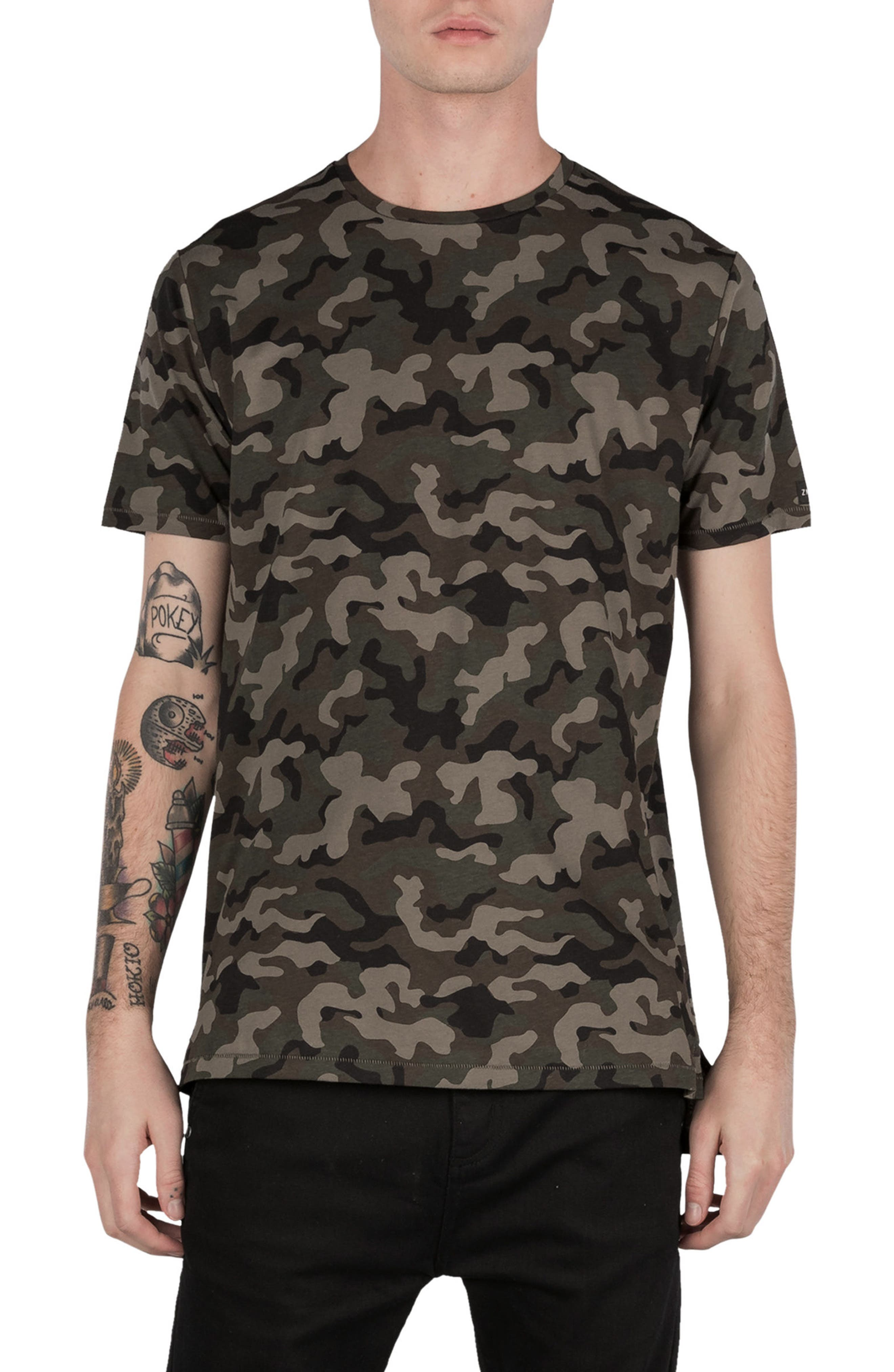 Flintlock Camo T-Shirt,                             Main thumbnail 1, color,                             Dark Camo