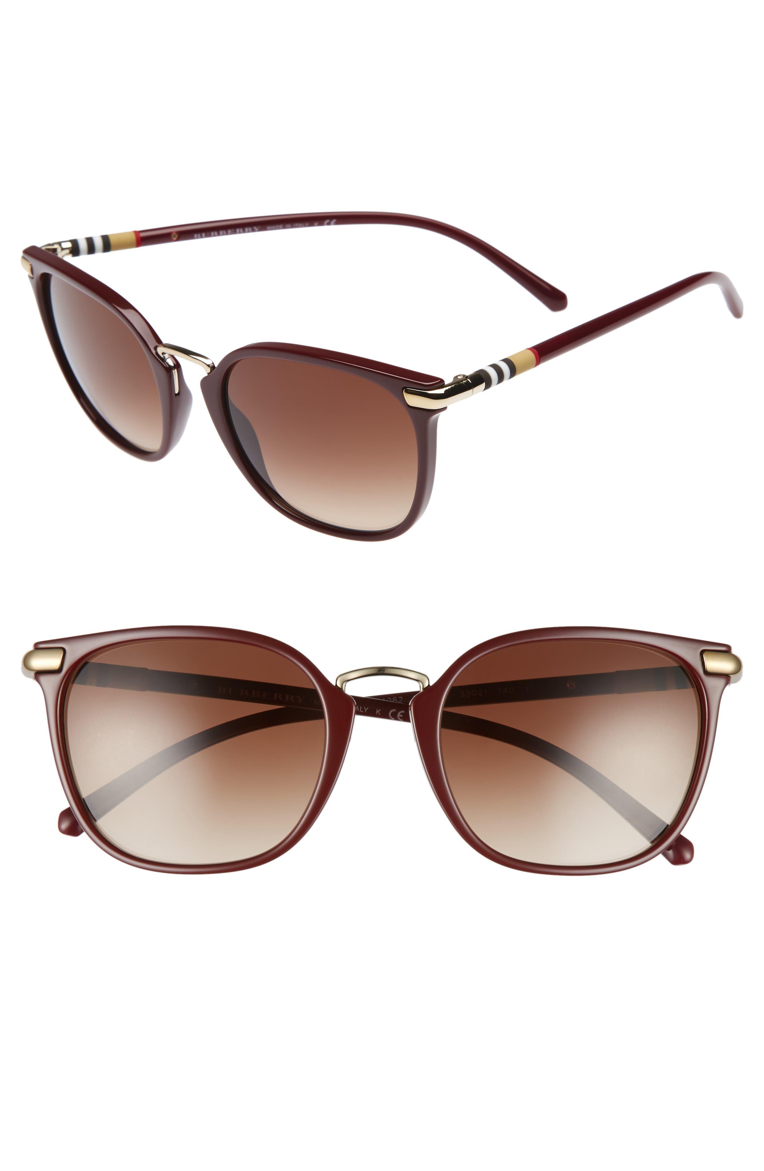 Main Image - Burberry 53mm Gradient Square Sunglasses
