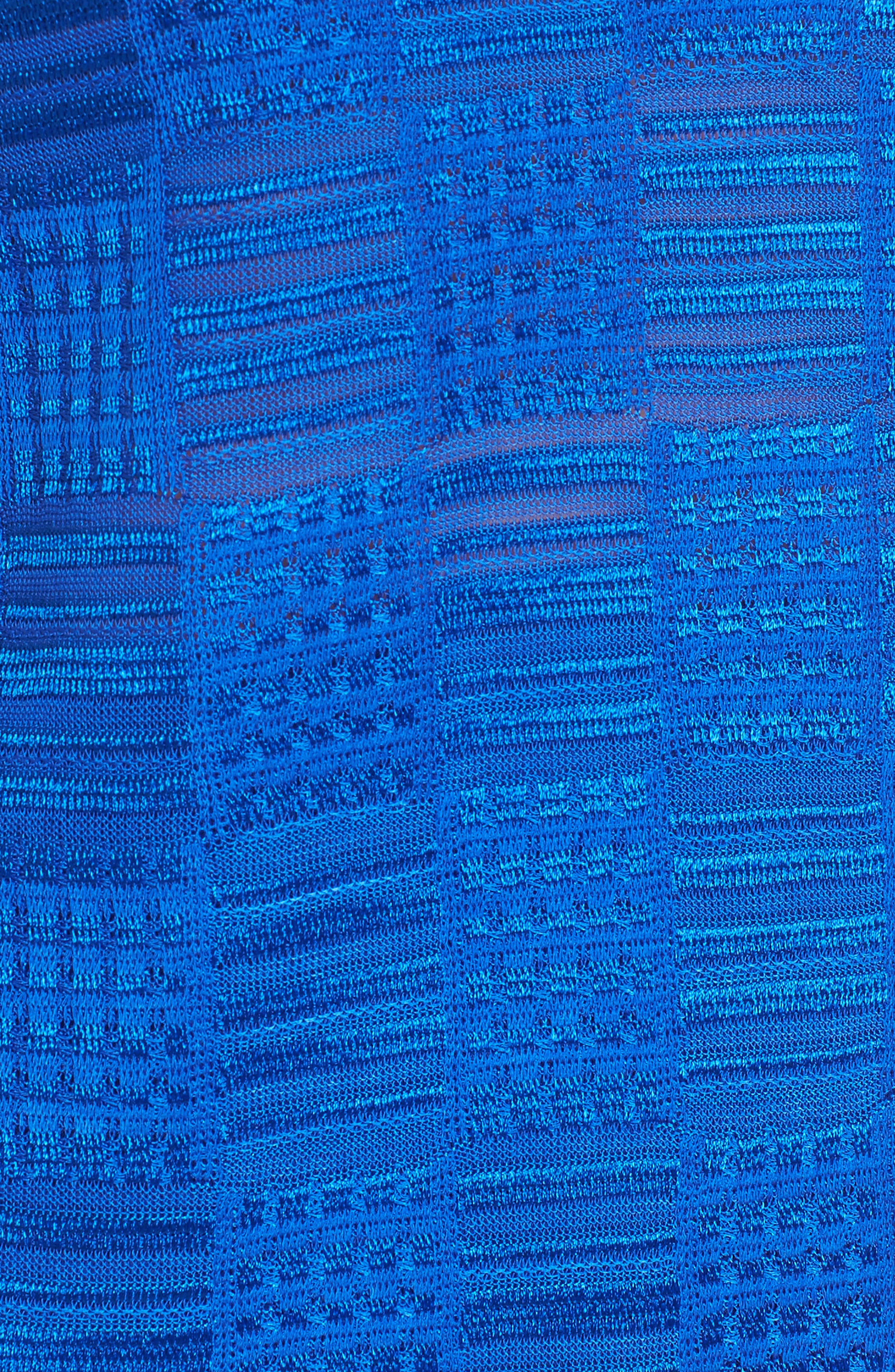 Contrast Neck Basket Weave Tank,                             Alternate thumbnail 5, color,                             Patriot Blue/ Black/ White