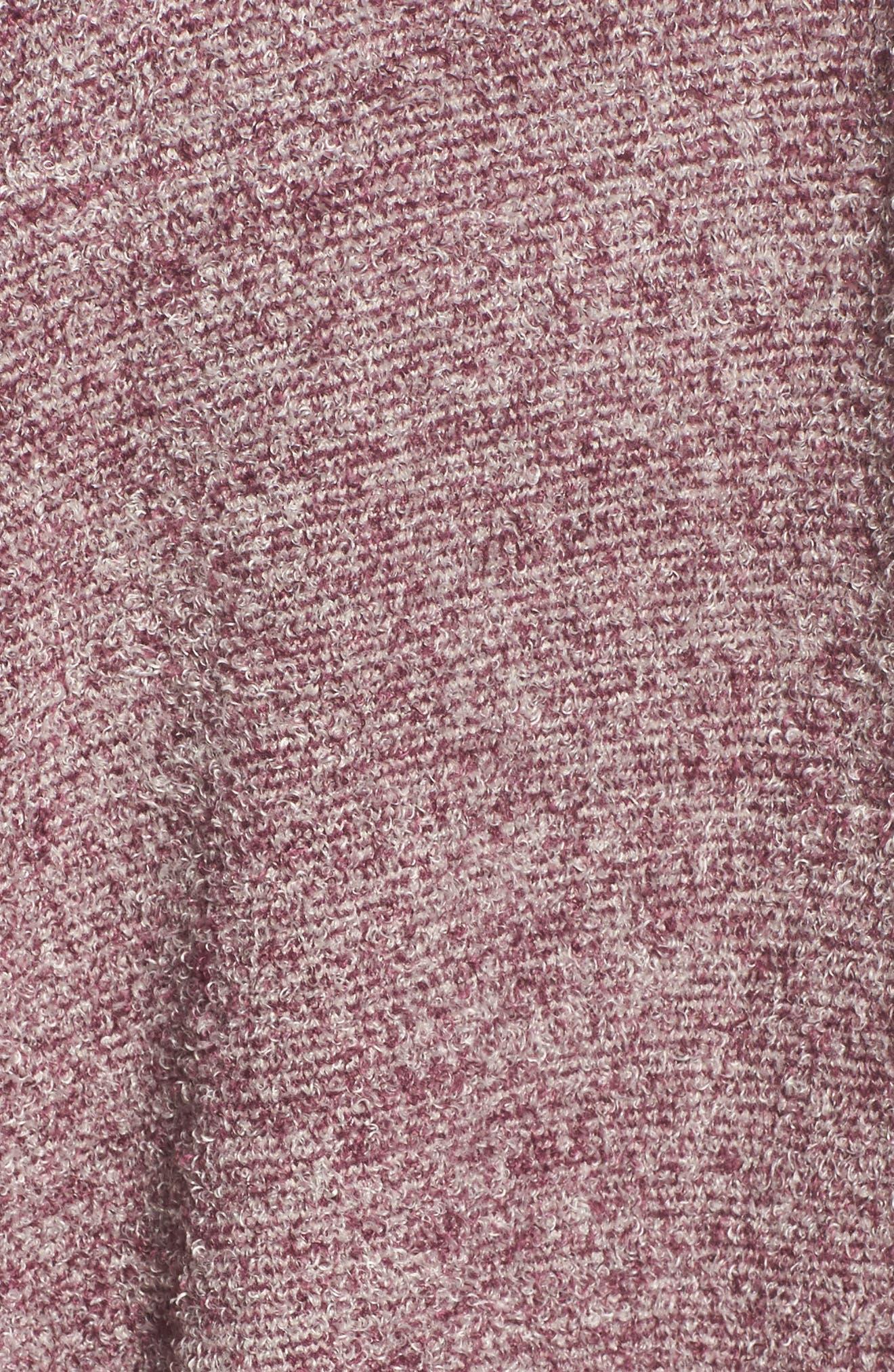 CozyChic Lite<sup>®</sup> Calypso Wrap Cardigan,                             Alternate thumbnail 6, color,                             Burgundy/ Stone