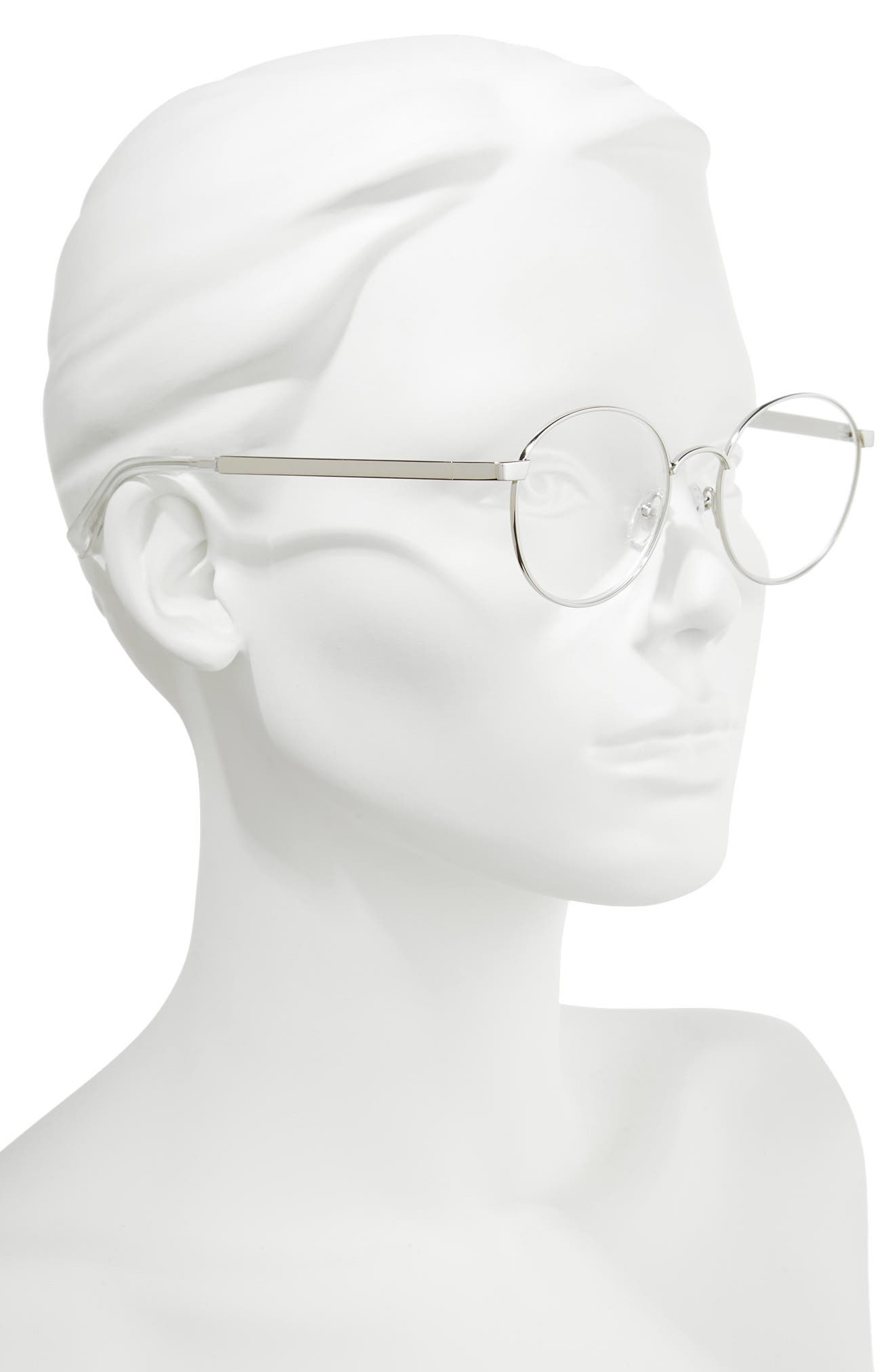 Bothering Sights 51mm Reading Glasses,                             Alternate thumbnail 2, color,                             Silver/ Cellophane