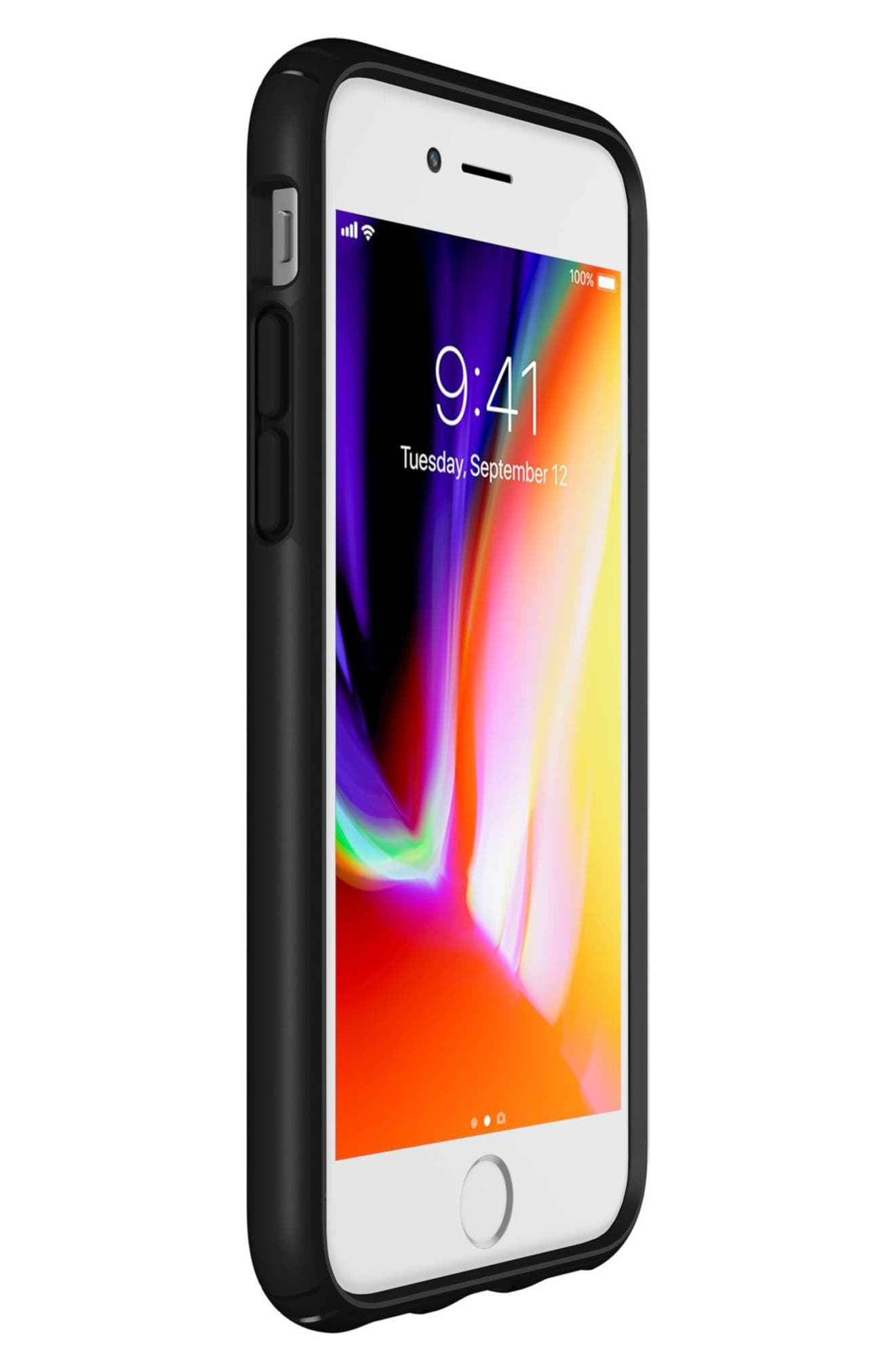 iPhone 6/6s/7/8 Case,                             Alternate thumbnail 6, color,                             Black/ Black