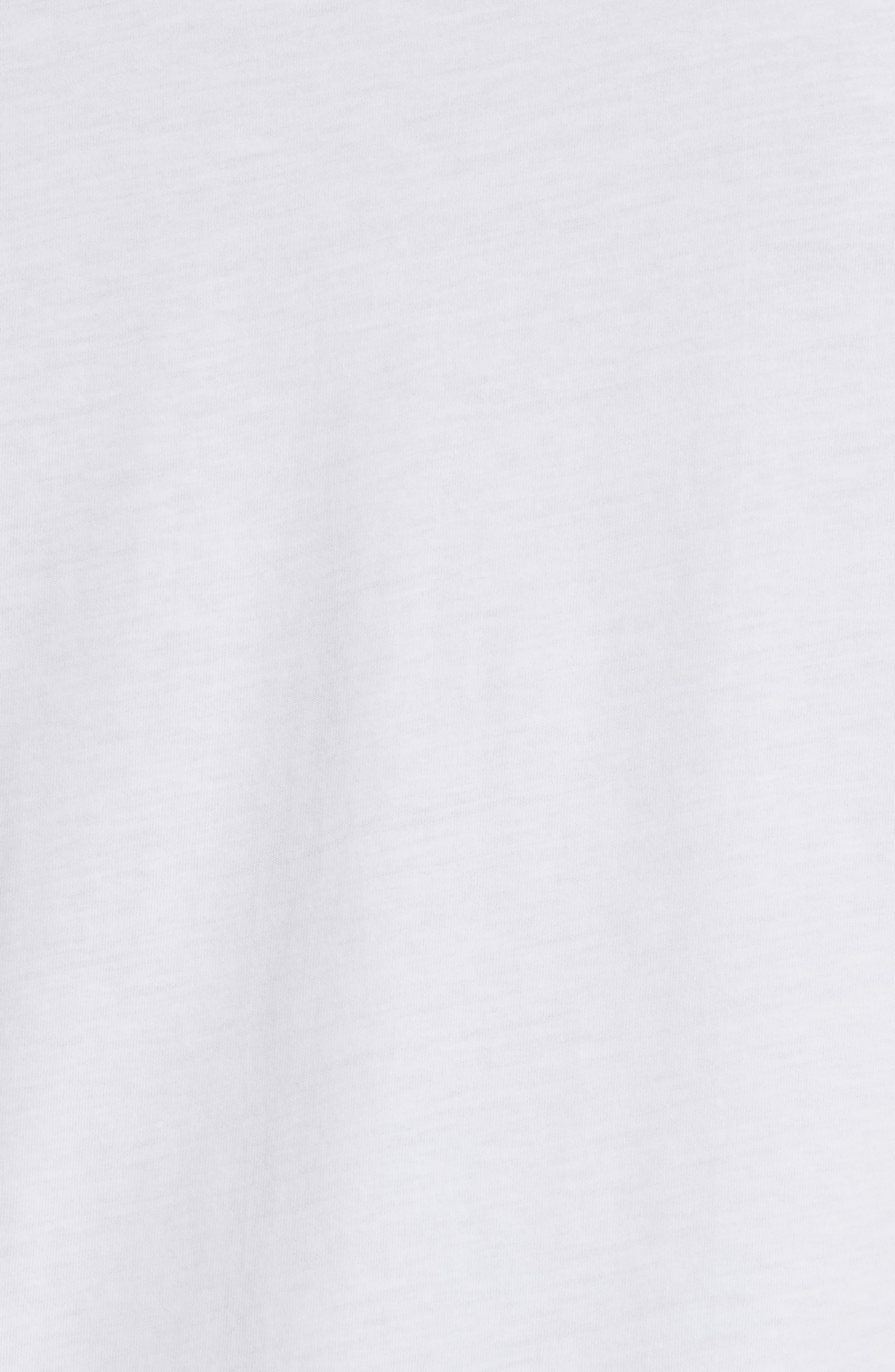 Seaview Print Pocket T-Shirt,                             Alternate thumbnail 5, color,                             White