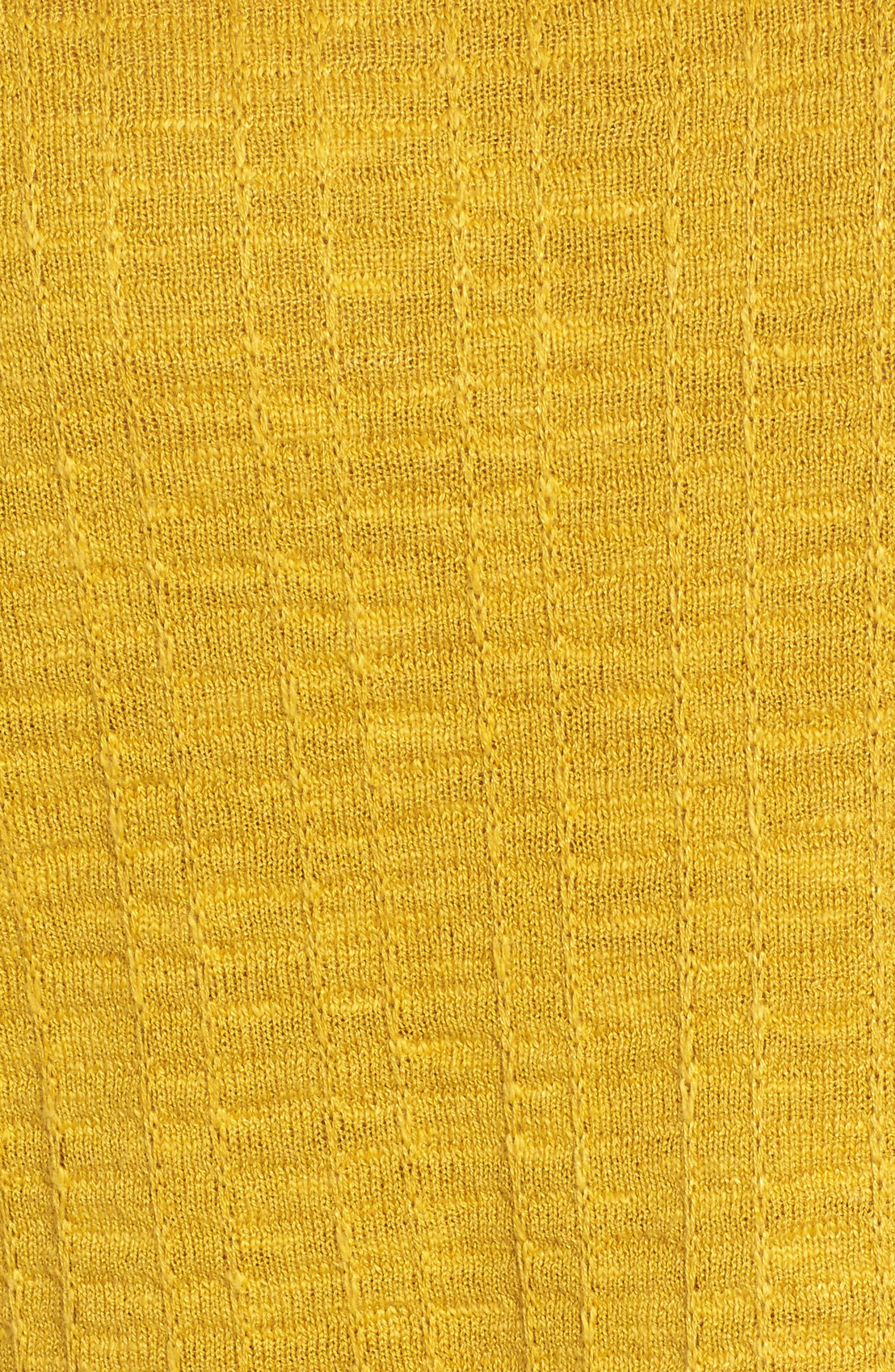 Organic Linen & Cotton Sweater,                             Alternate thumbnail 5, color,                             Mustard Seed