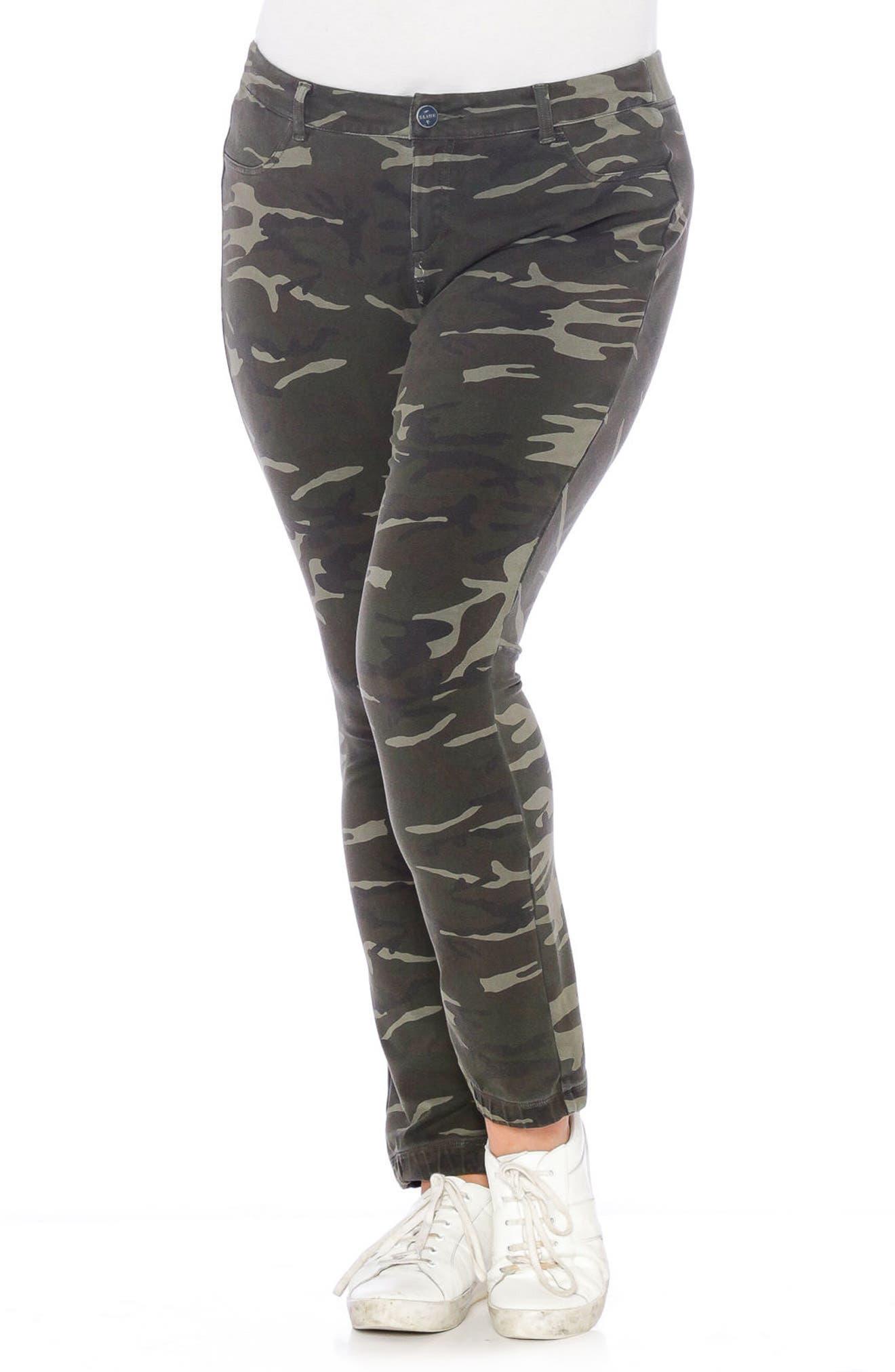 Super Stretch Knit Pants,                         Main,                         color, Olive Camo