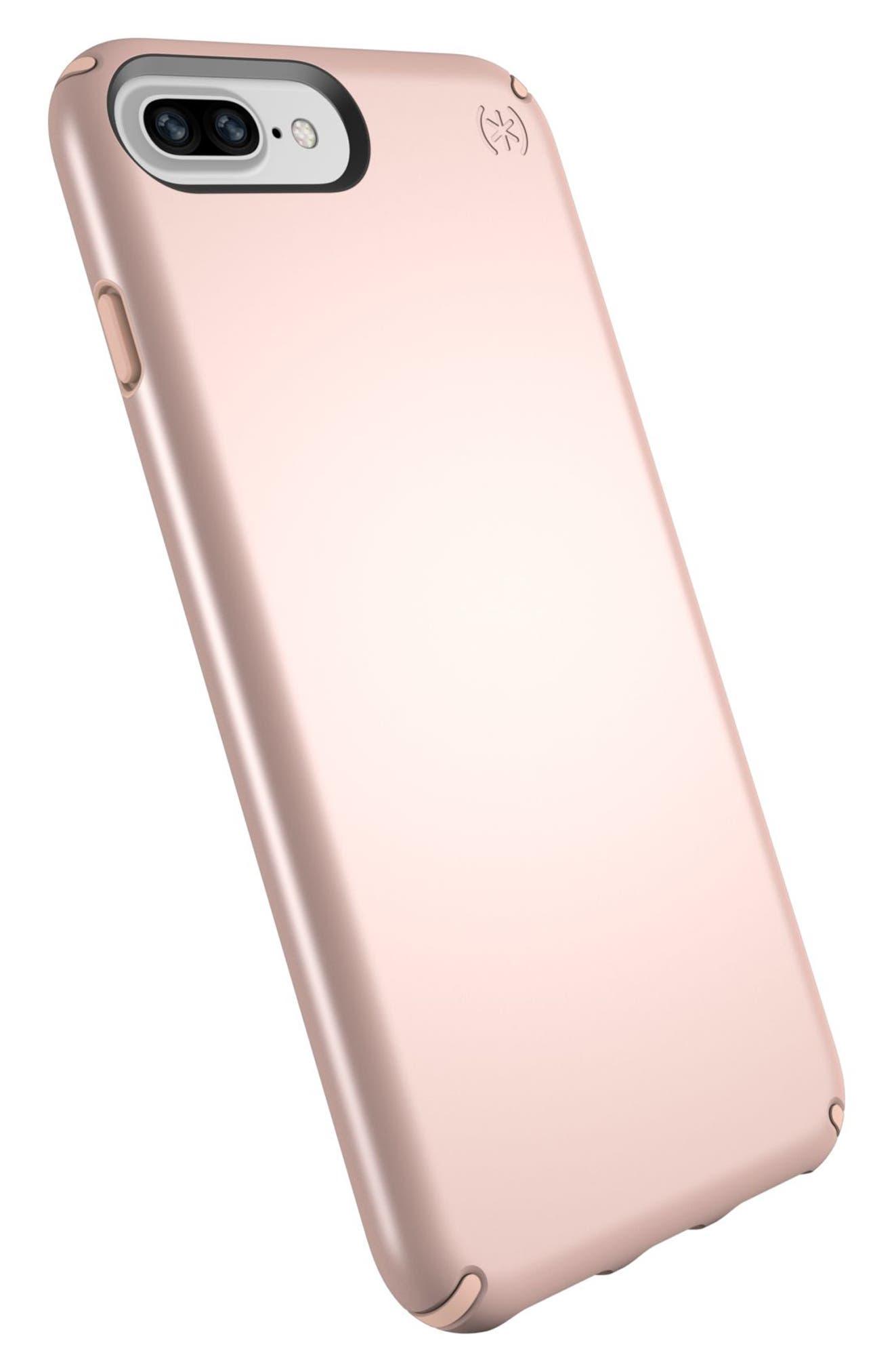 iPhone 6/6s/7/8 Plus Case,                             Alternate thumbnail 7, color,                             Rose Gold Metallic/ Peach