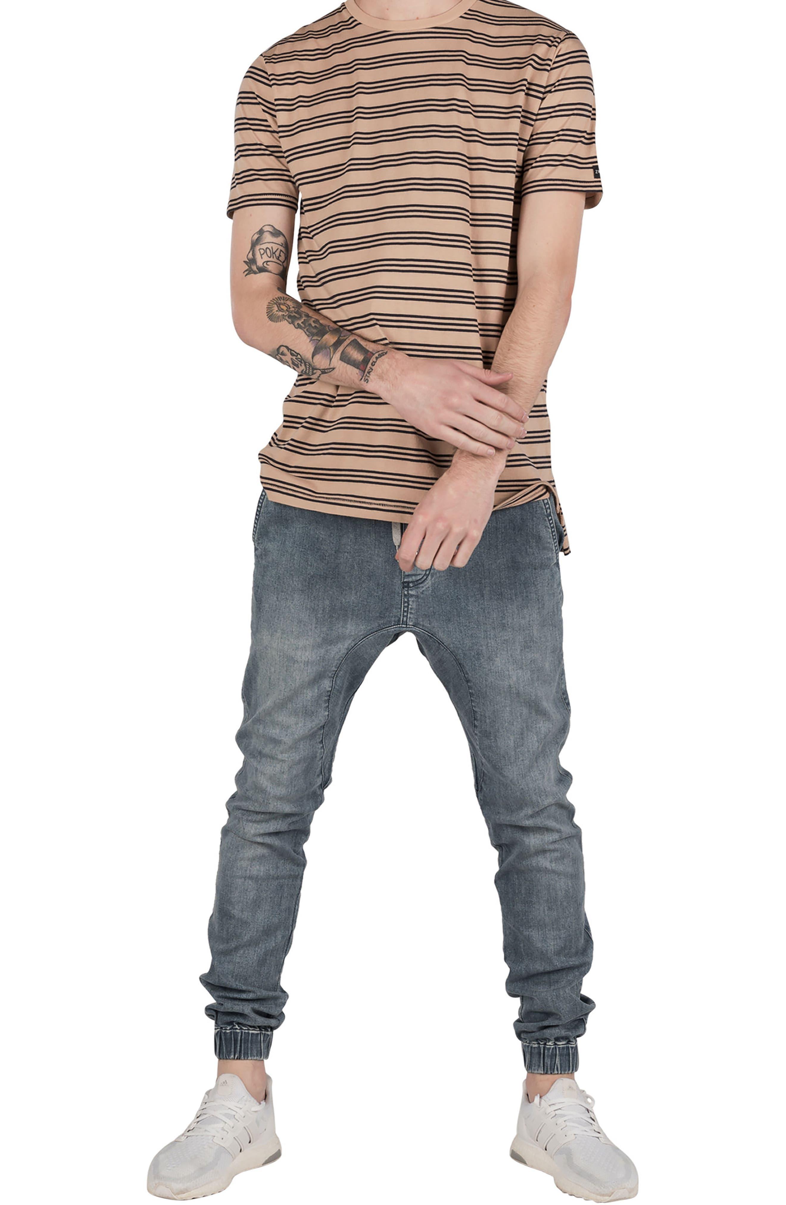 Flintlock Stripe T-Shirt,                             Alternate thumbnail 5, color,                             Wheat/ Navy