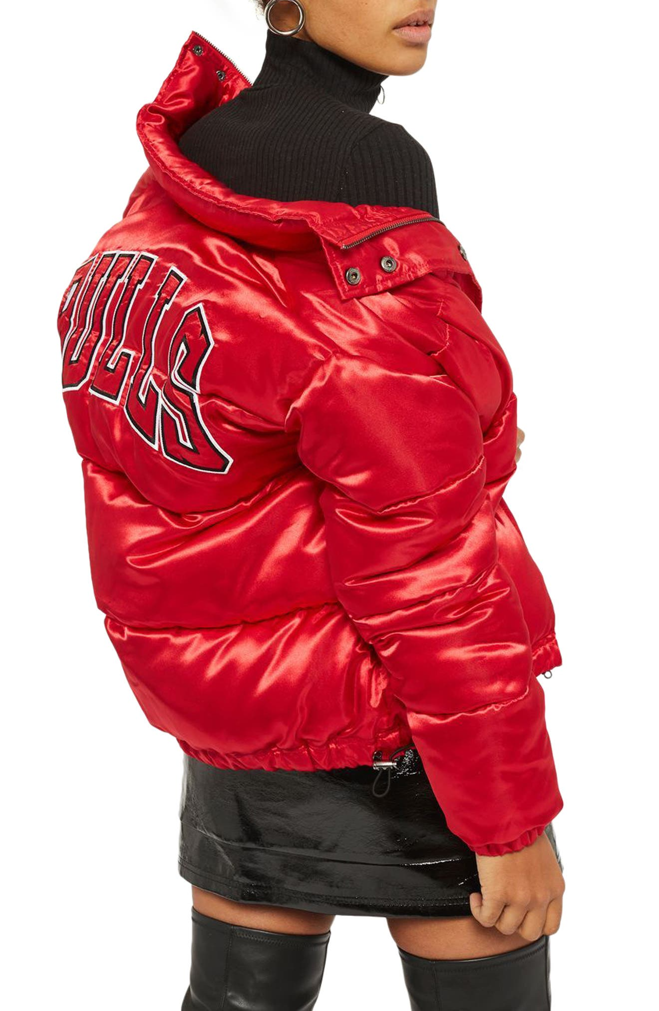 Alternate Image 3  - Topshop x UNK Chicago Bulls Puffer Jacket