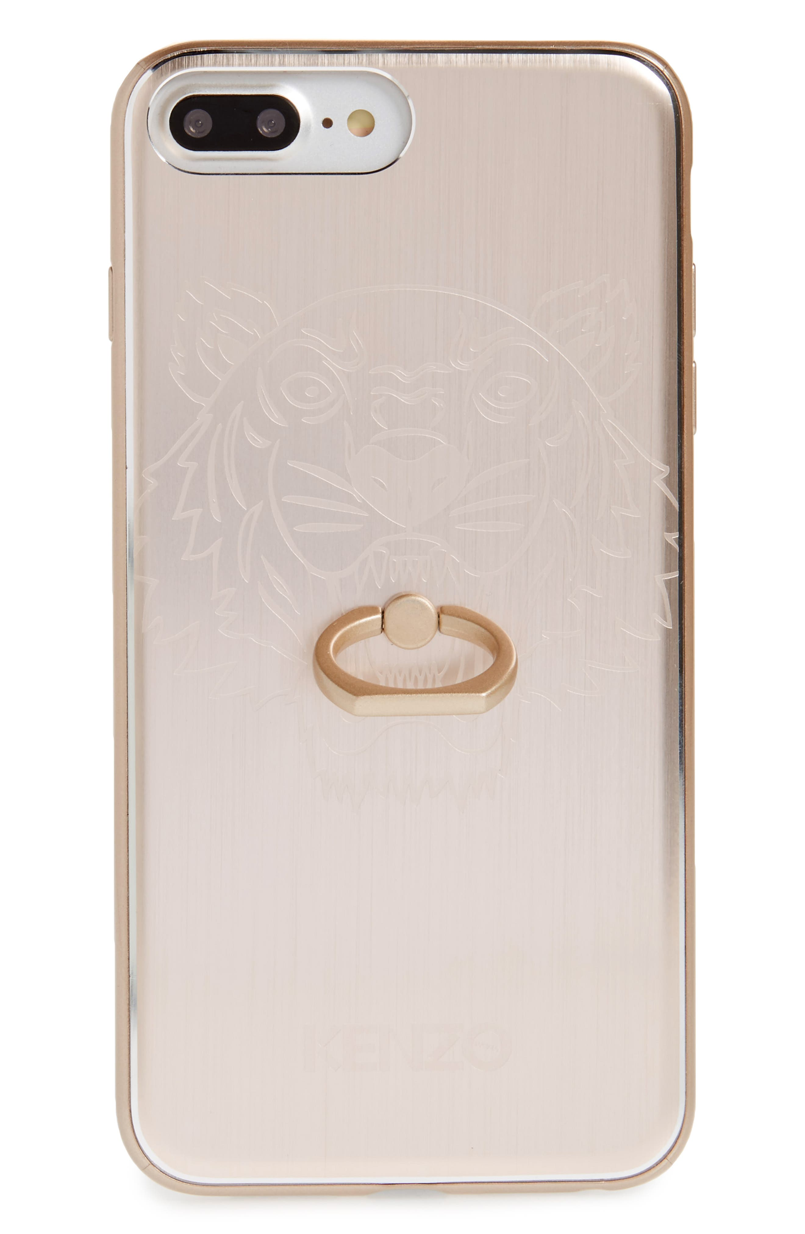 Tiger Ring Aluminum iPhone 7 Plus Case,                             Main thumbnail 1, color,                             Gold
